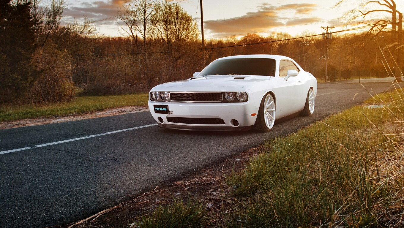 1360x768 White Muscle Car Laptop Hd Hd 4k Wallpapers Images
