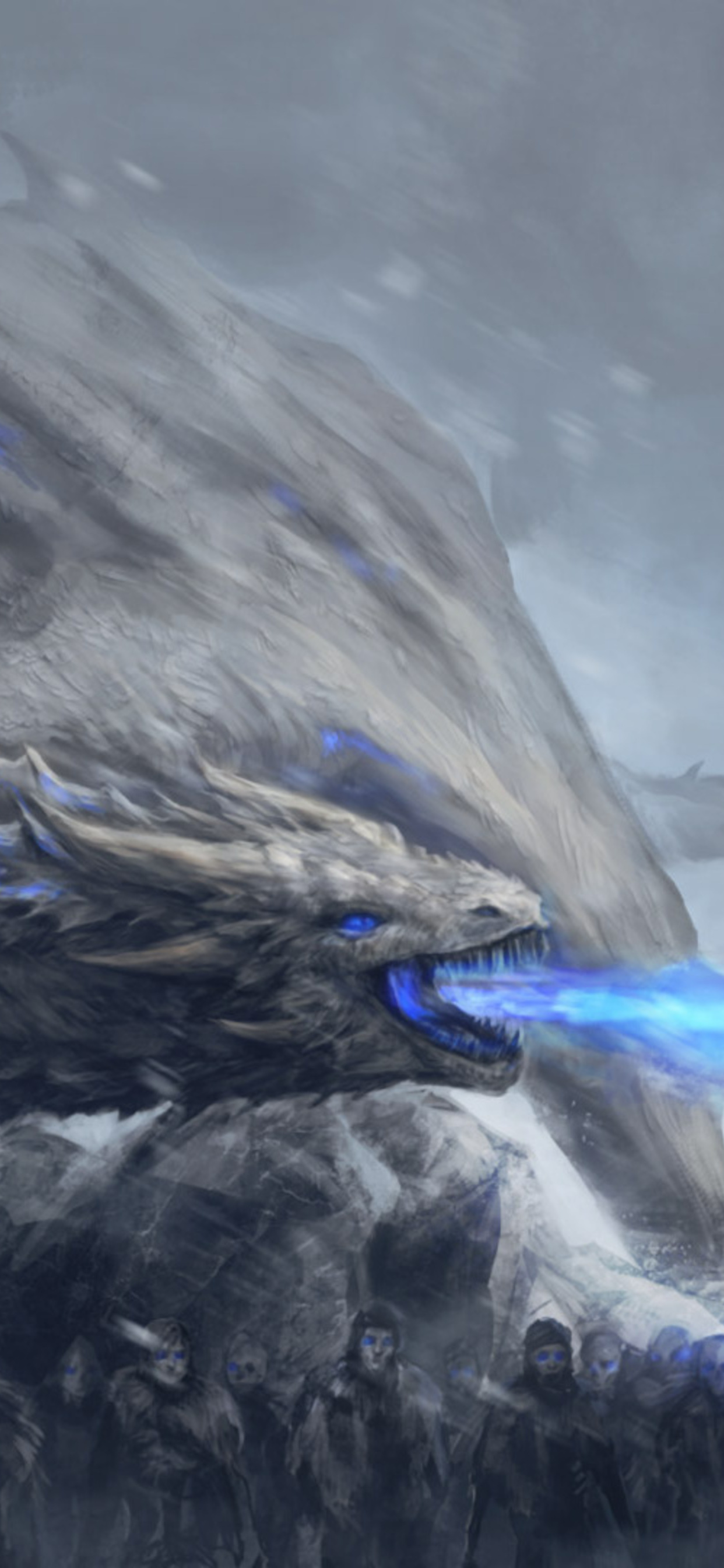 1242x2688 White Walkers Dragon Game Of Thrones Iphone Xs Max Hd 4k