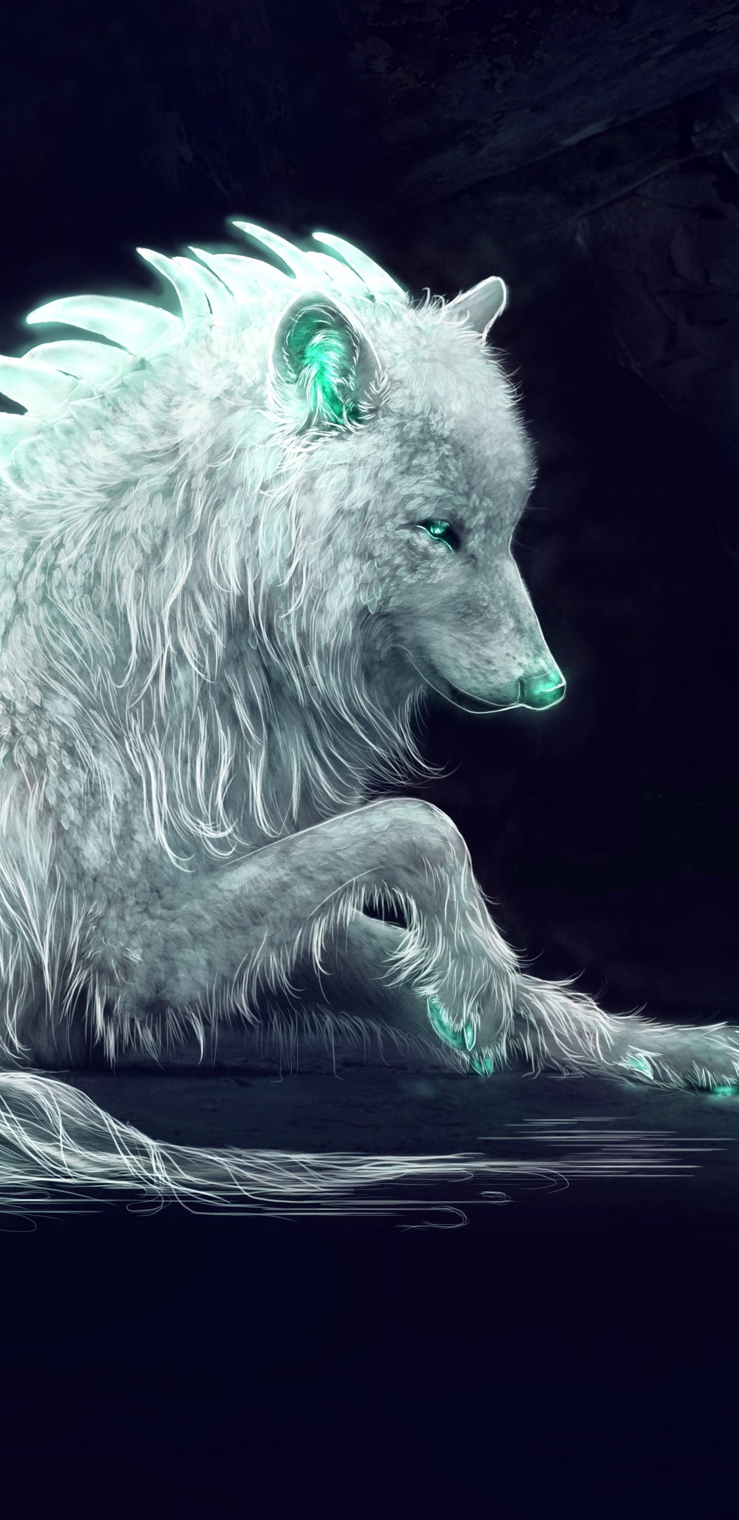1440x2960 White Wolf Fan Art Samsung Galaxy Note 9,8, S9 ...
