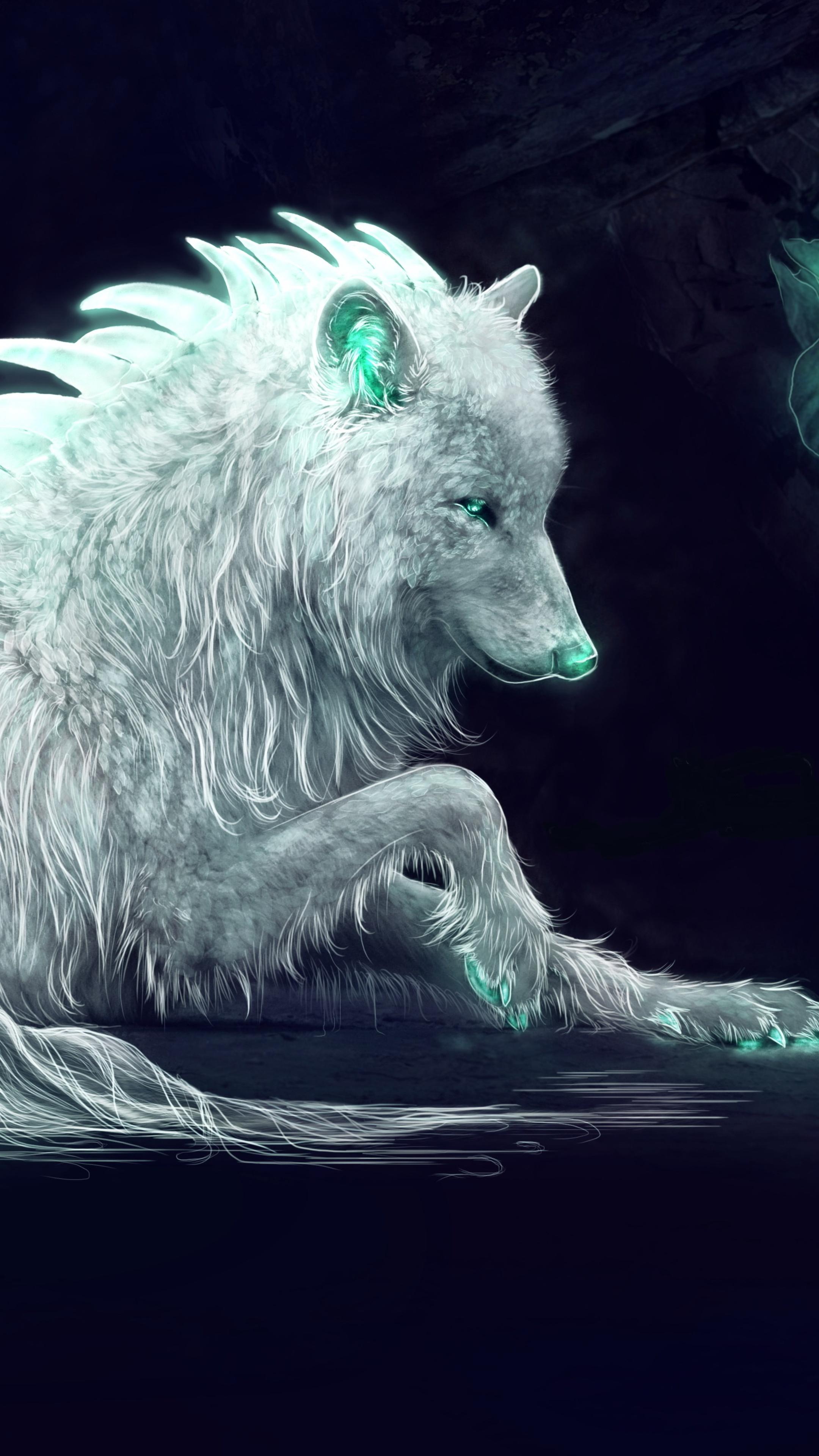 2160x3840 white wolf fan art sony xperia x xz z5 premium - Art wallpaper 2160x3840 ...