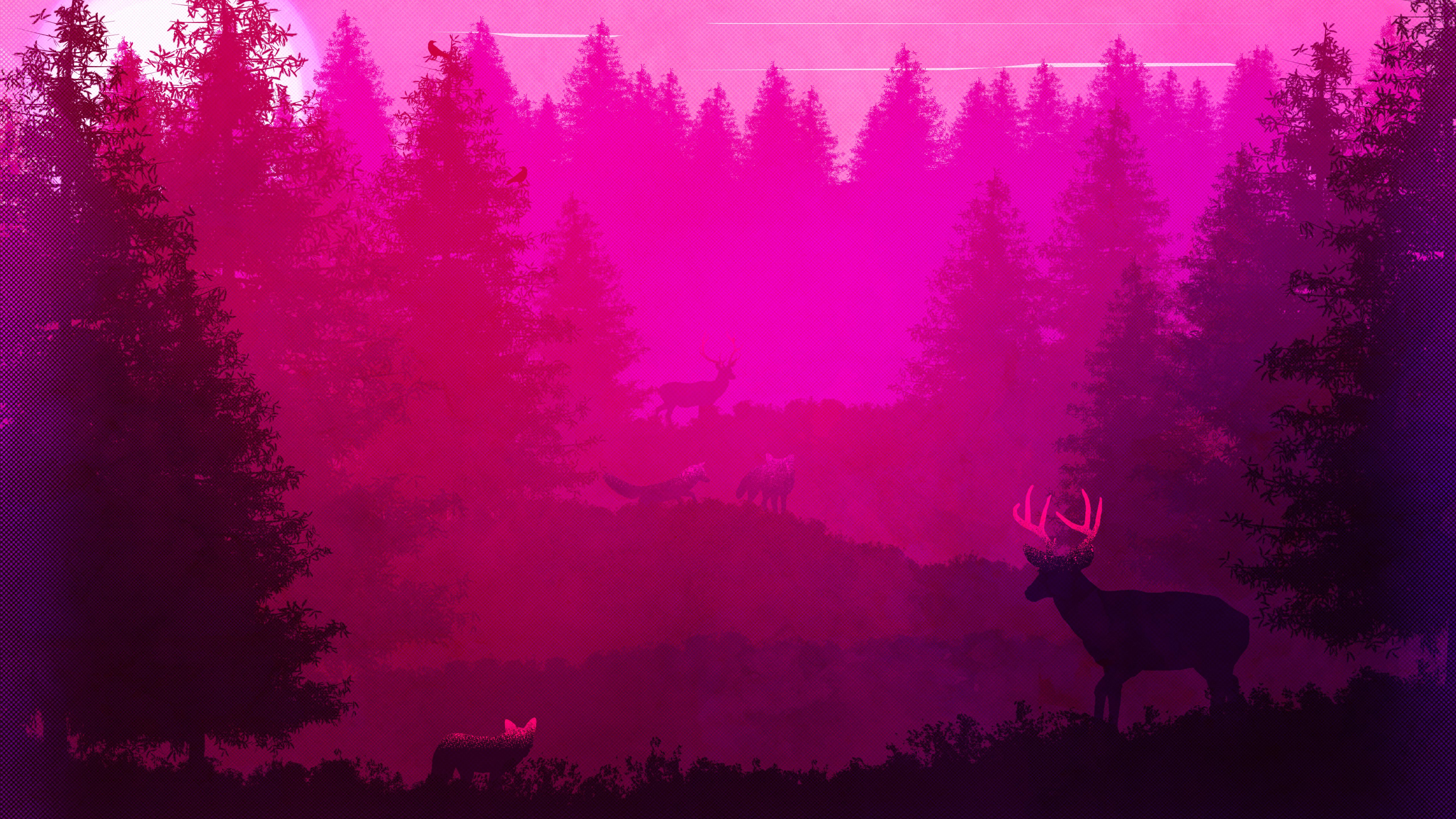 wild-animals-forest-pink-minimalism-5k-4y.jpg