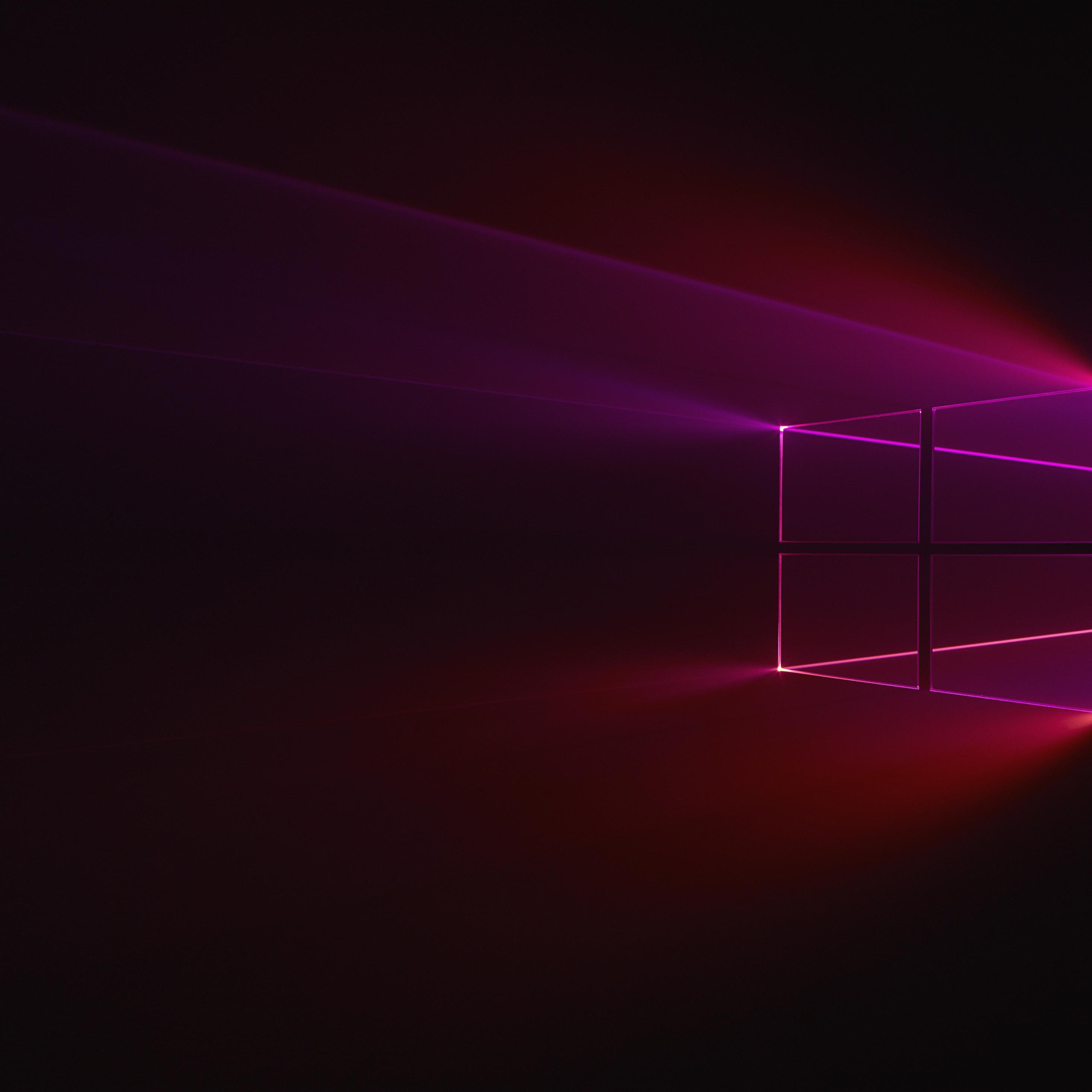 2932x2932 Windows 10 Glass Background Ipad Pro Retina