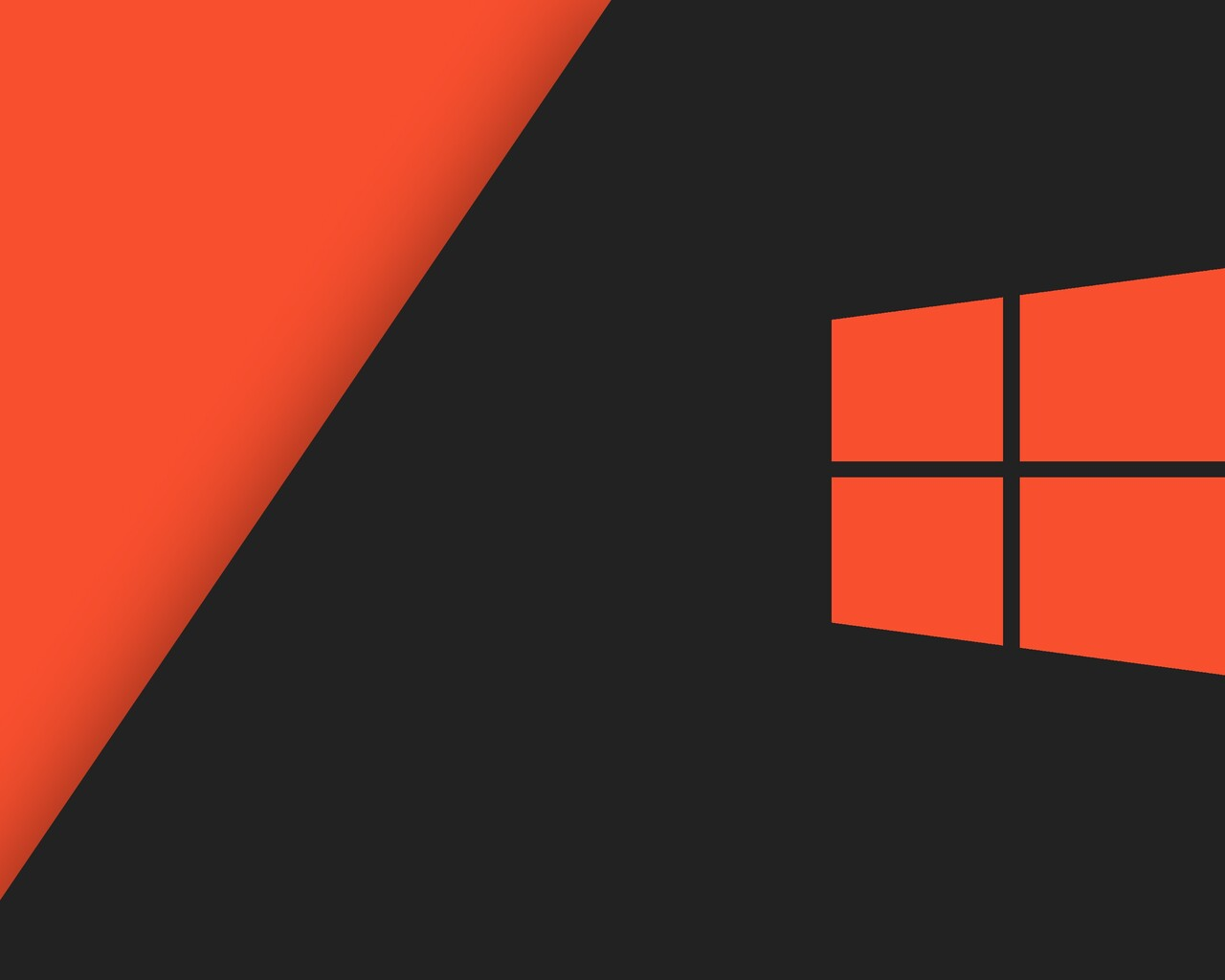 1280x1024 Windows 10 Orange Stock 1280x1024 Resolution HD