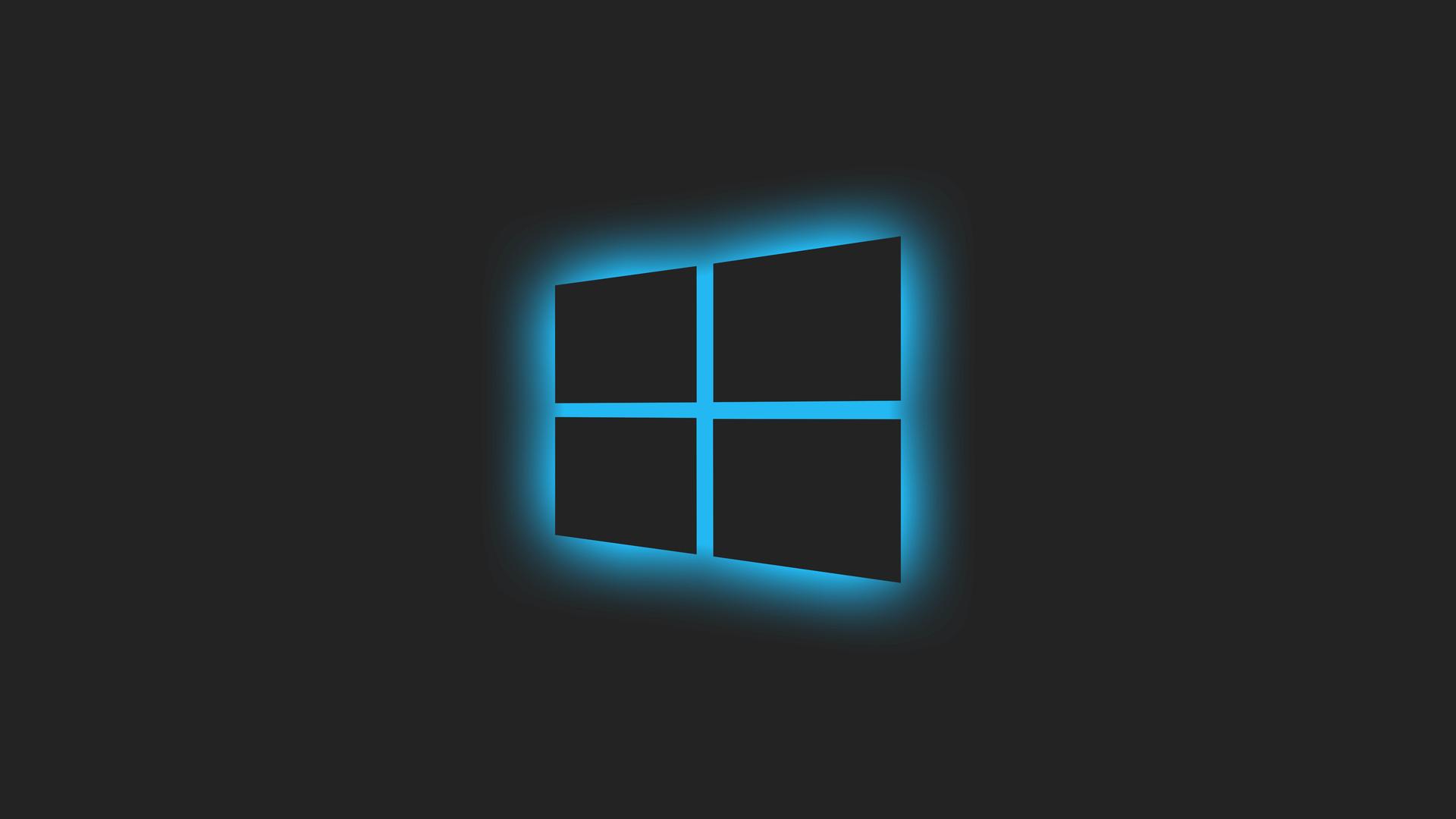 1920x1080 Windows Glowing Logo Blue 5k Laptop Full HD ...