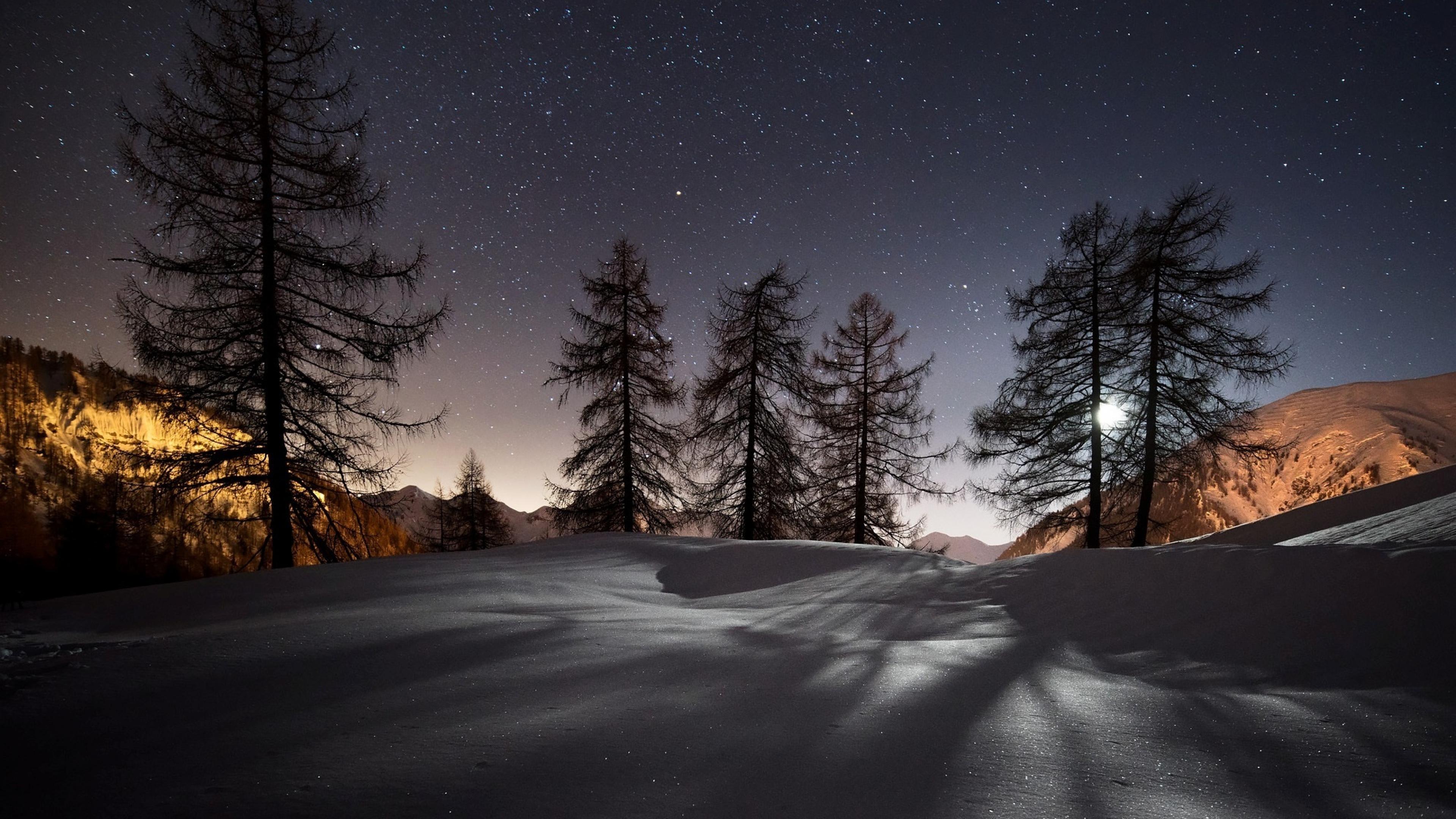 снежная ночь загрузить