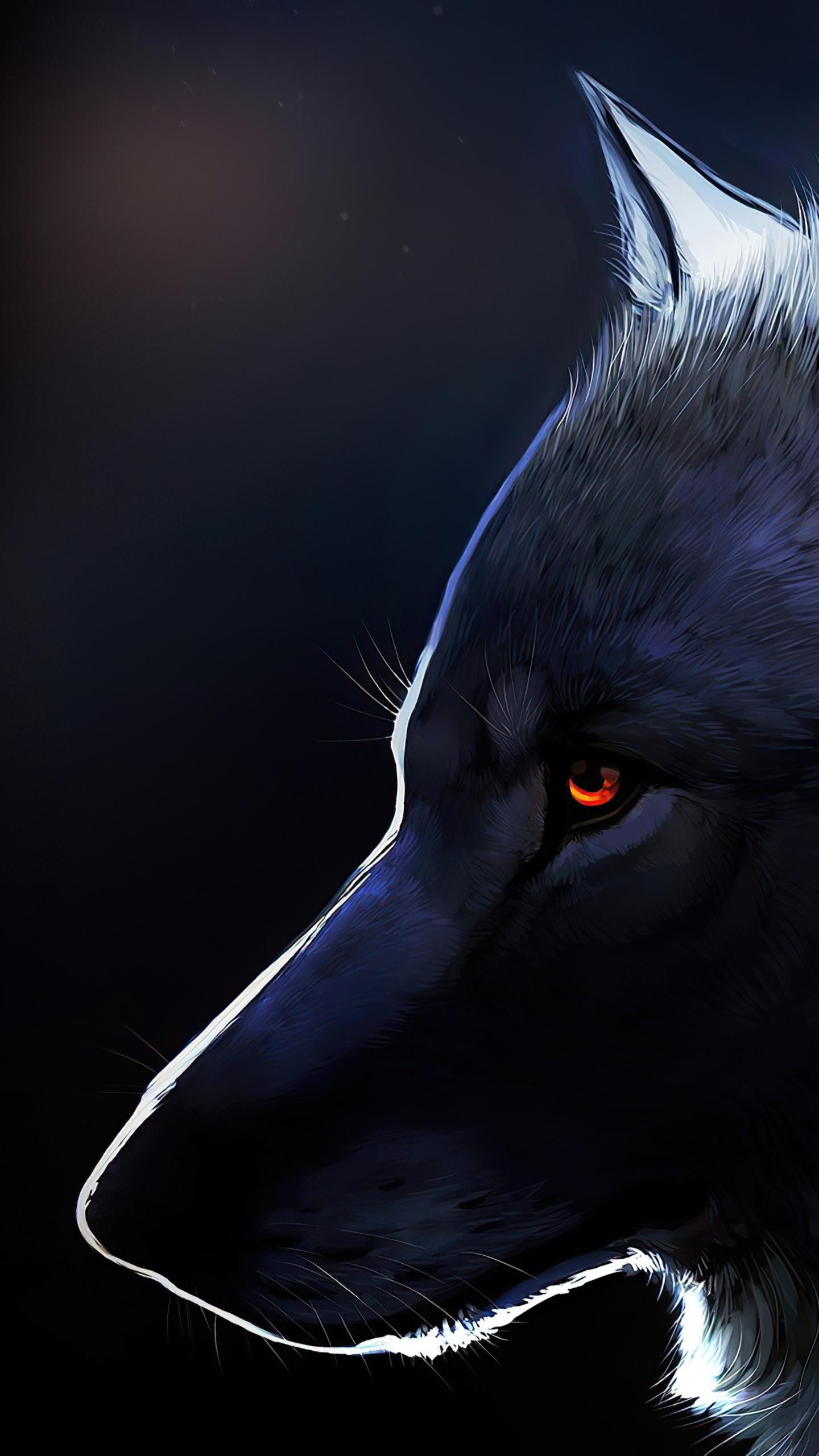 wolf glowing eyes 4k ff