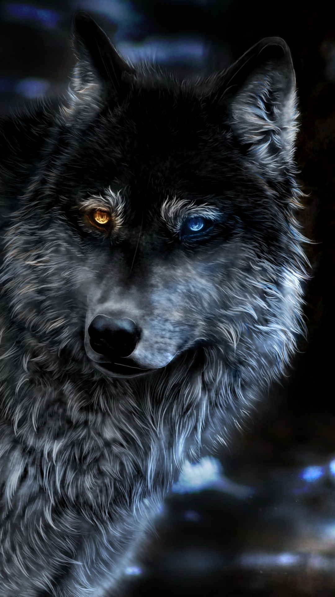 Wolf Heterochromia Fantasy 3k
