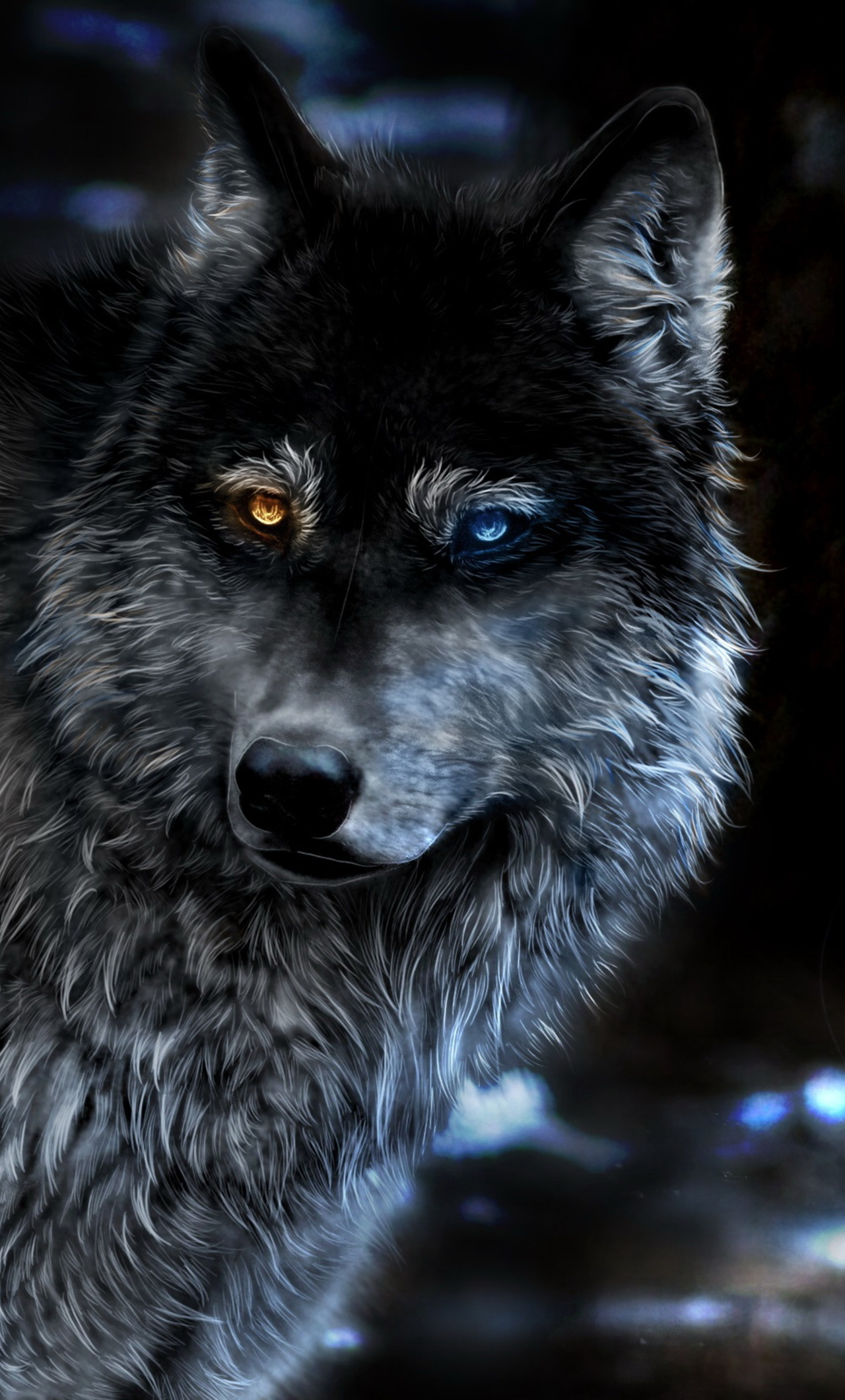 1280x2120 Wolf Heterochromia Fantasy Iphone 6 Hd 4k Wallpapers