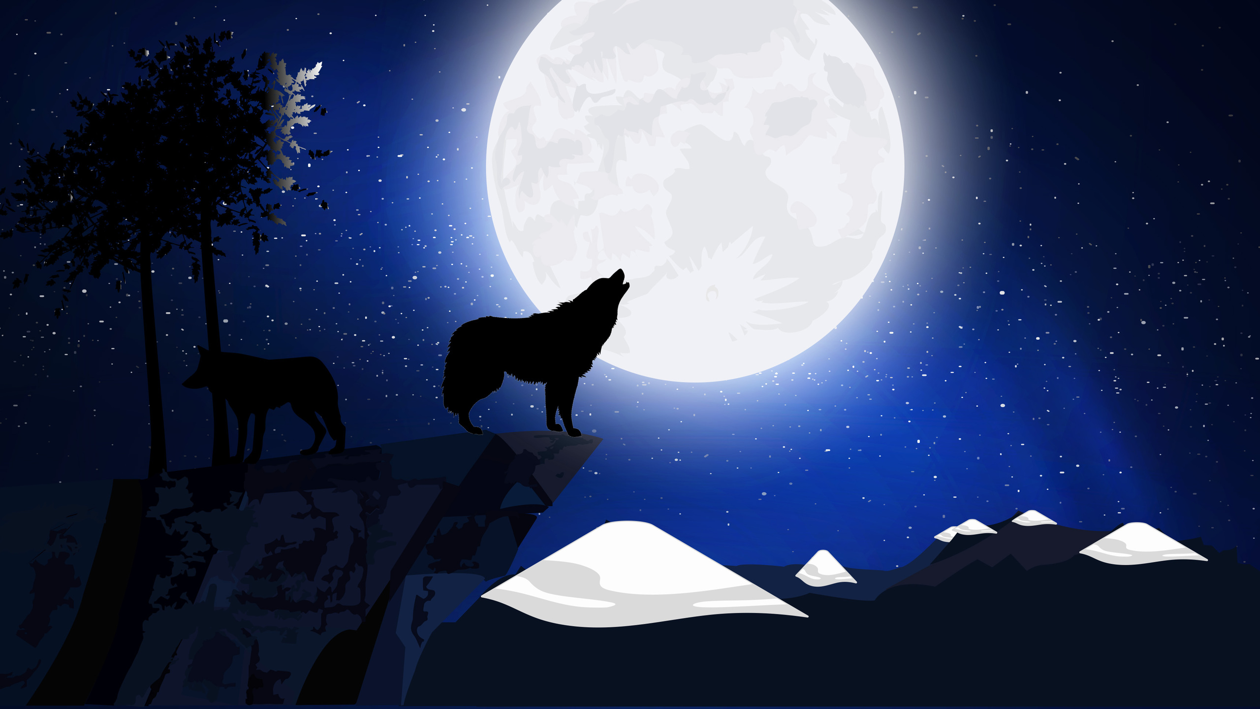 2560x1440 wolf howling 1440p resolution hd 4k wallpapers - Wolf howling hd ...