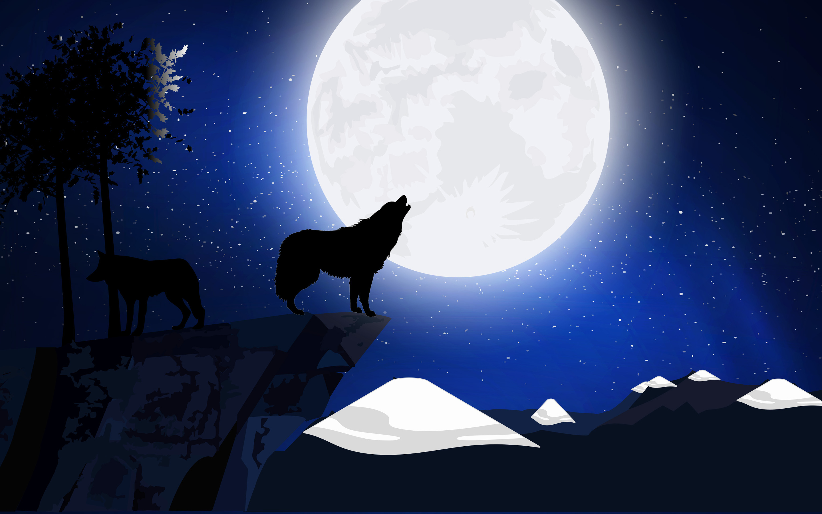 2880x1800 Wolf Howling Macbook Pro Retina Hd 4k Wallpapers Images