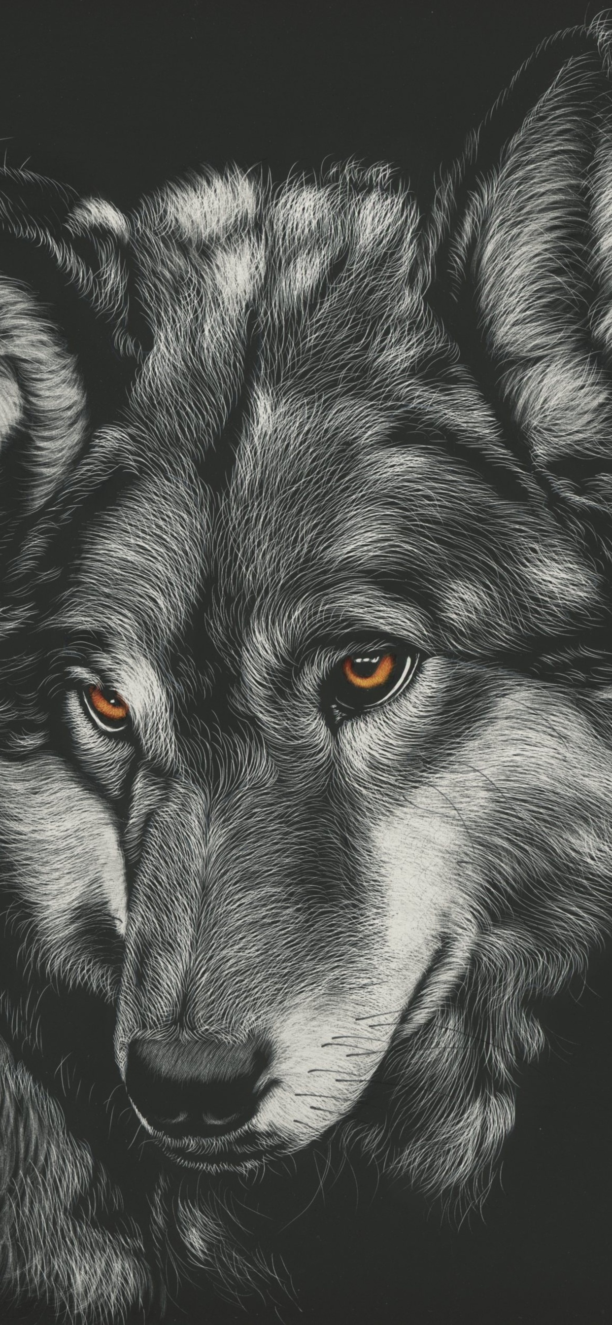 1242x2688 Wolf Painting 4k Iphone Xs Max Hd 4k Wallpapers