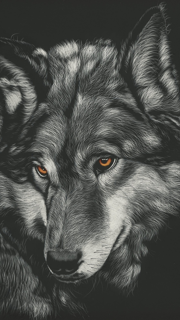 750x1334 Wolf Painting 4k Iphone 6 Iphone 6s Iphone 7 Hd 4k