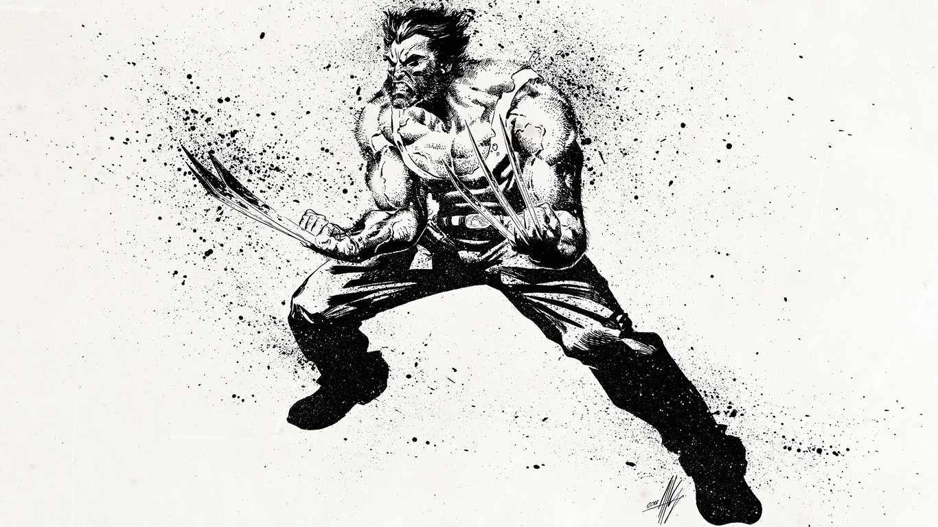 1366x768 Wolverine 4k Sketch Art 1366x768 Resolution Hd 4k Wallpapers Images Backgrounds Photos And Pictures