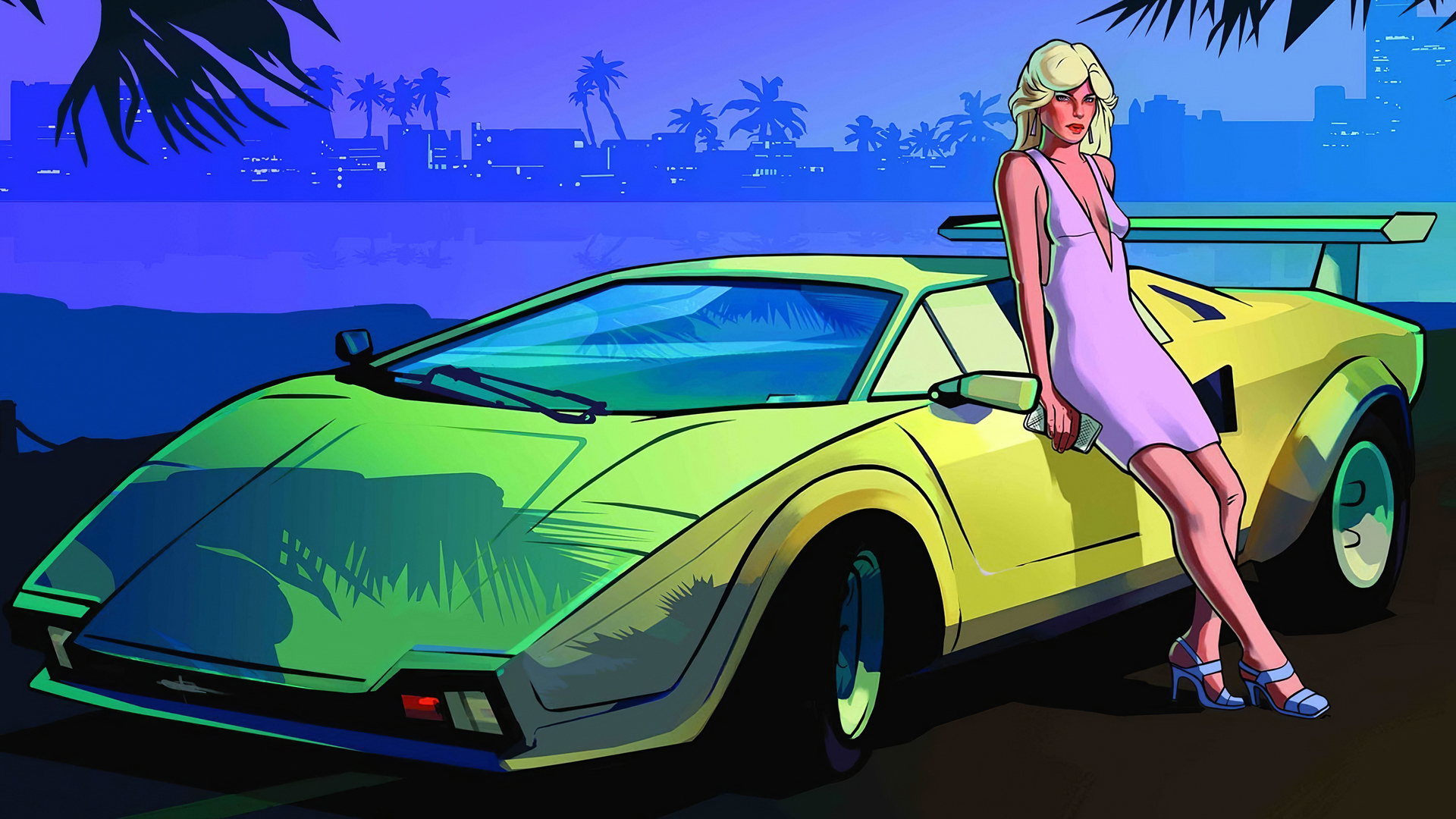 1920x1080 Women Luxury Grand Theft Auto Vice City 4k Laptop Full