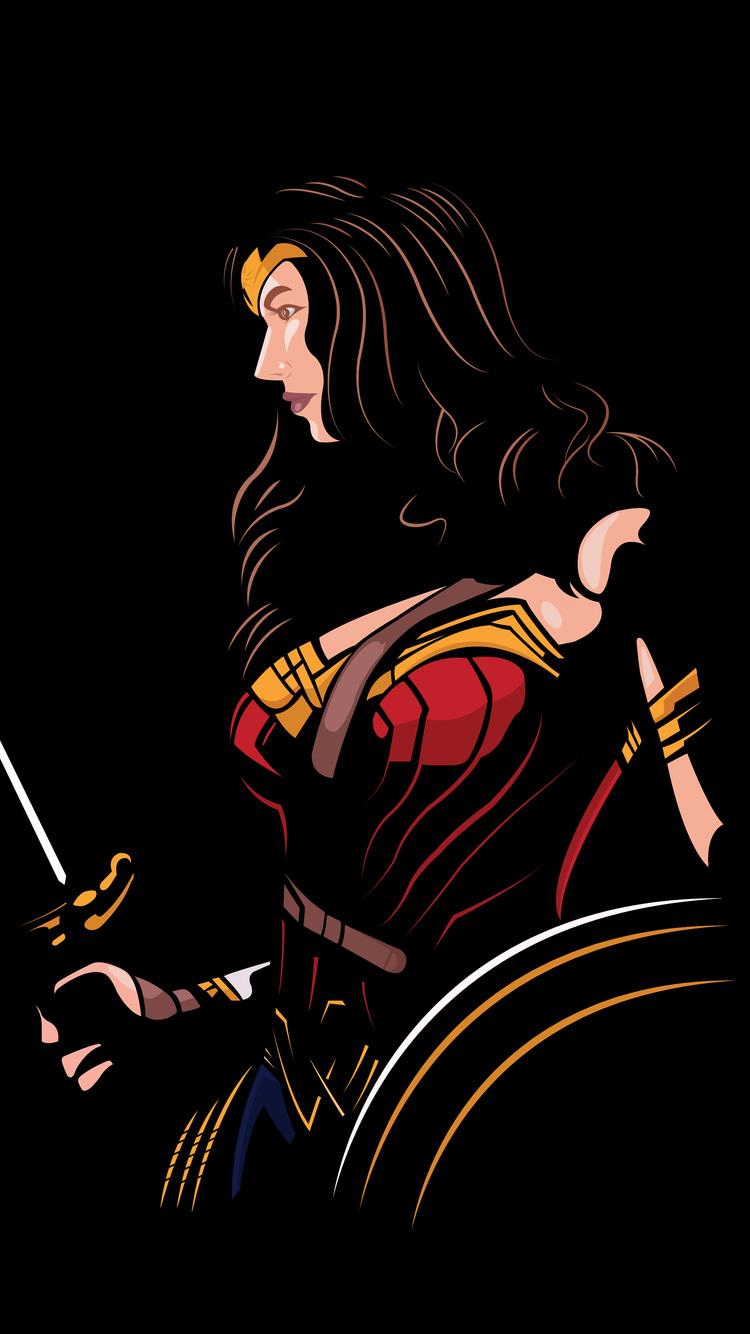 750x1334 Wonder Woman 4k Minimalism Iphone 6 Iphone 6s