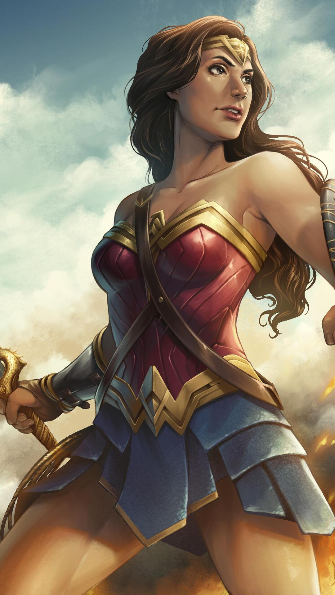 Wonder Woman Wallpapers ID 837093 Source 1080x1920 Artwork HD Iphone 7 6s 6 Plus Pixel Xl One