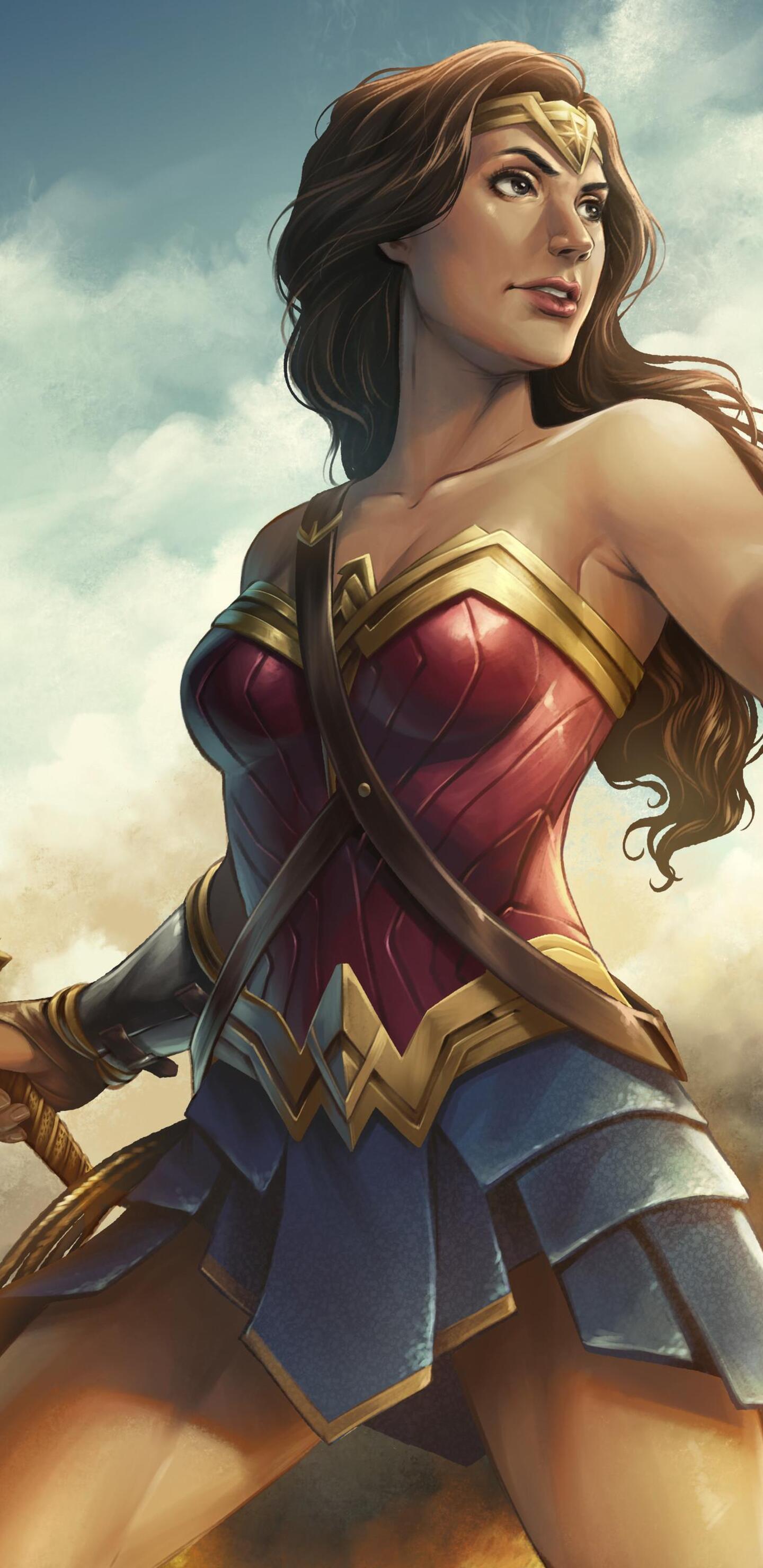 1440x2960 Wonder Woman Artwork Hd Samsung Galaxy Note 9 8 S9 S8 S8