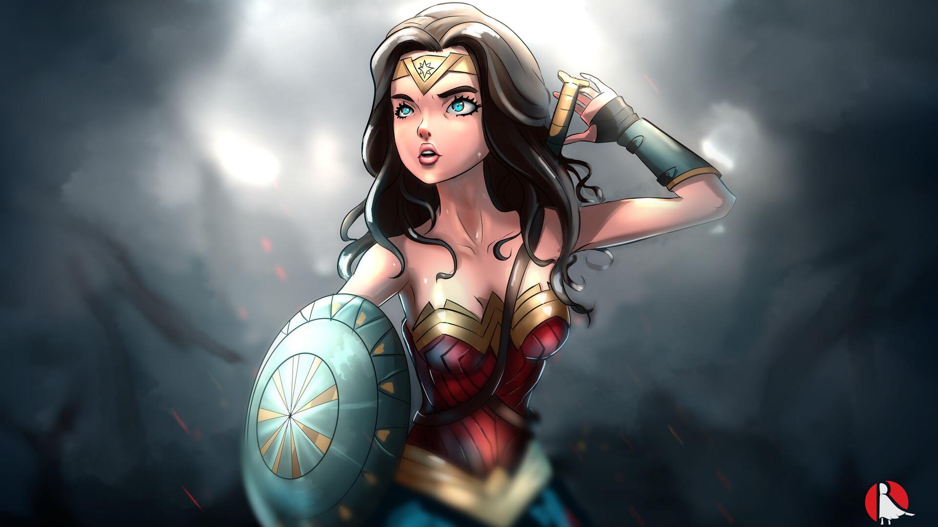 1920x1080 Wonder Woman Cartoon Artwork Laptop Full HD ...