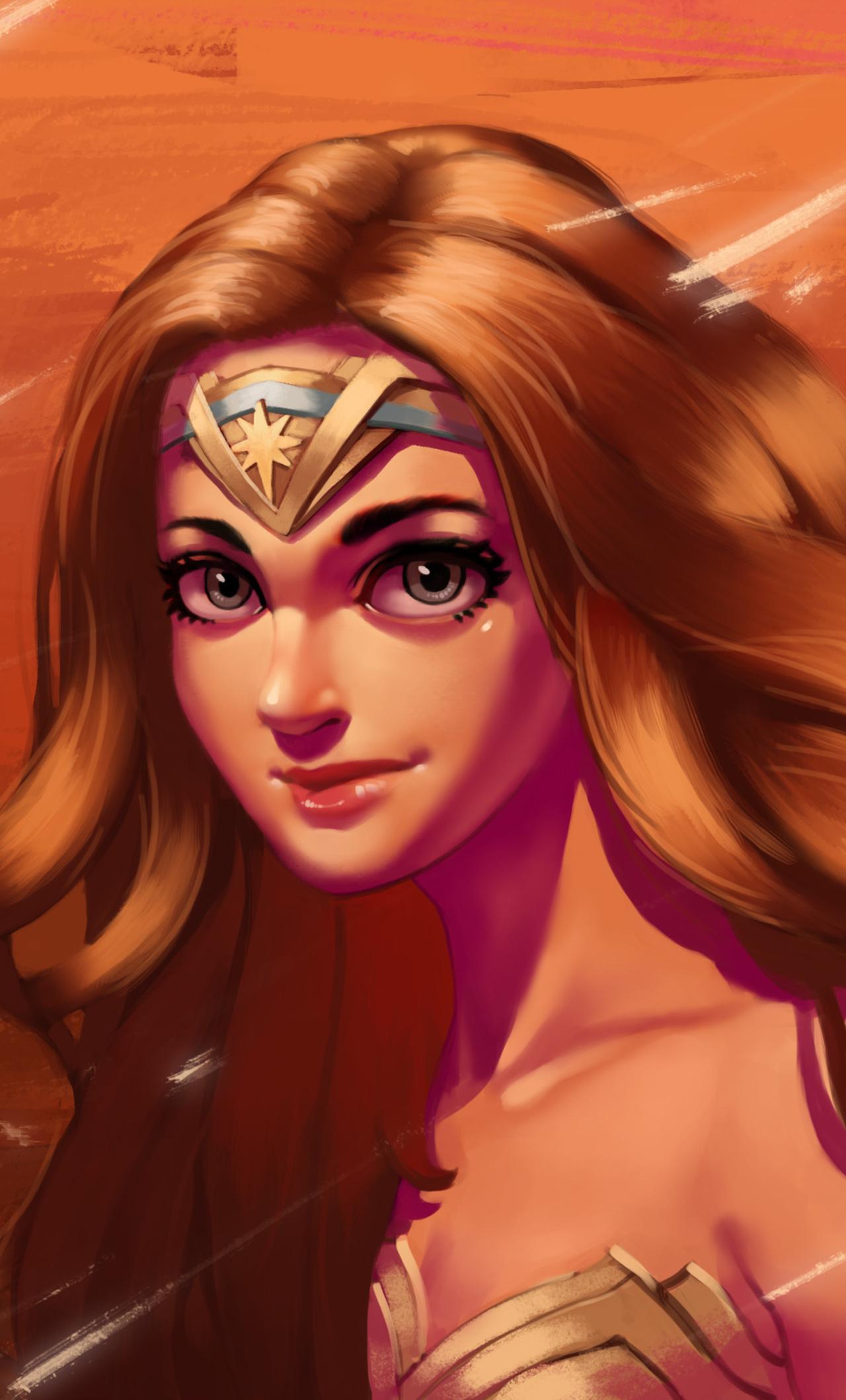 1280x2120 Wonder Woman Cute Art Iphone 6 Hd 4k Wallpapers