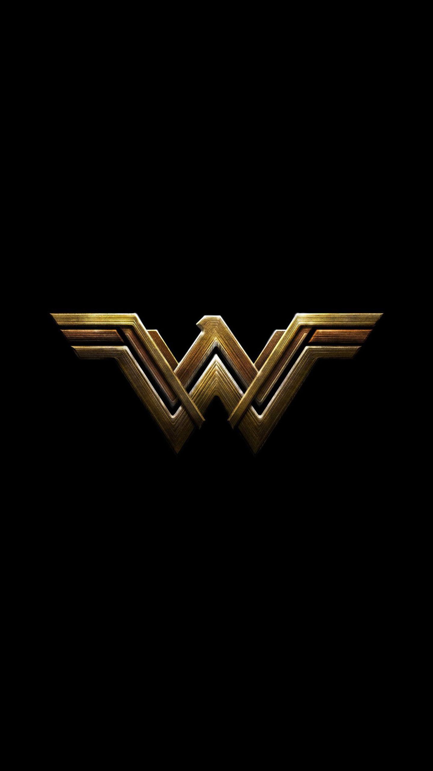 1440x2560 Wonder Woman Dark Logo 4k Samsung Galaxy S6,S7 ,Google