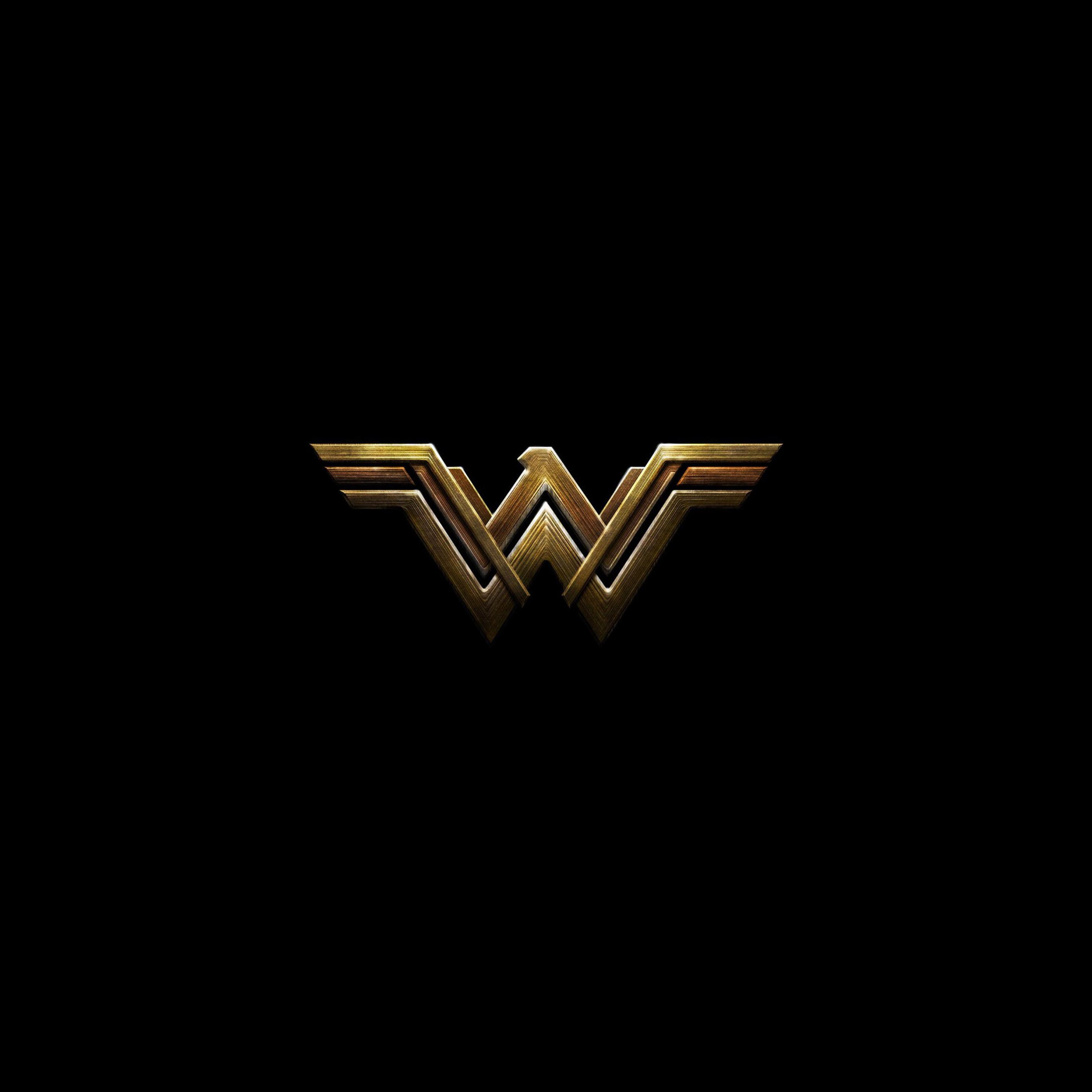 2932x2932 Wonder Woman Dark Logo 4k Ipad Pro Retina