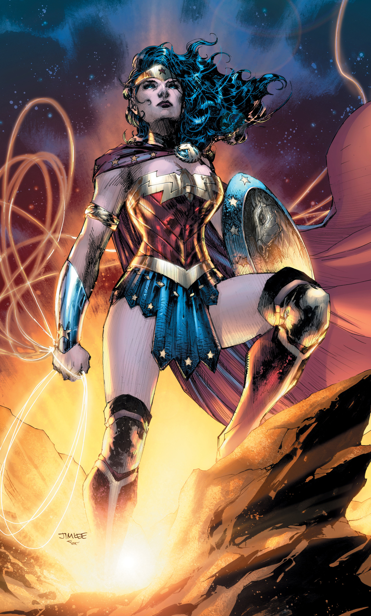 1280x2120 Wonder Woman Dc Comic Artwork iPhone 6+ HD 4k Wallpapers, Images,  Backgrounds, Photos and Pictures
