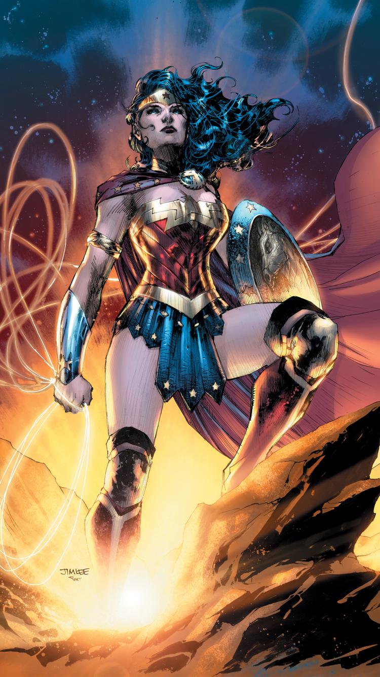 750x1334 Wonder Woman Dc Comic Artwork iPhone 6, iPhone 6S ...
