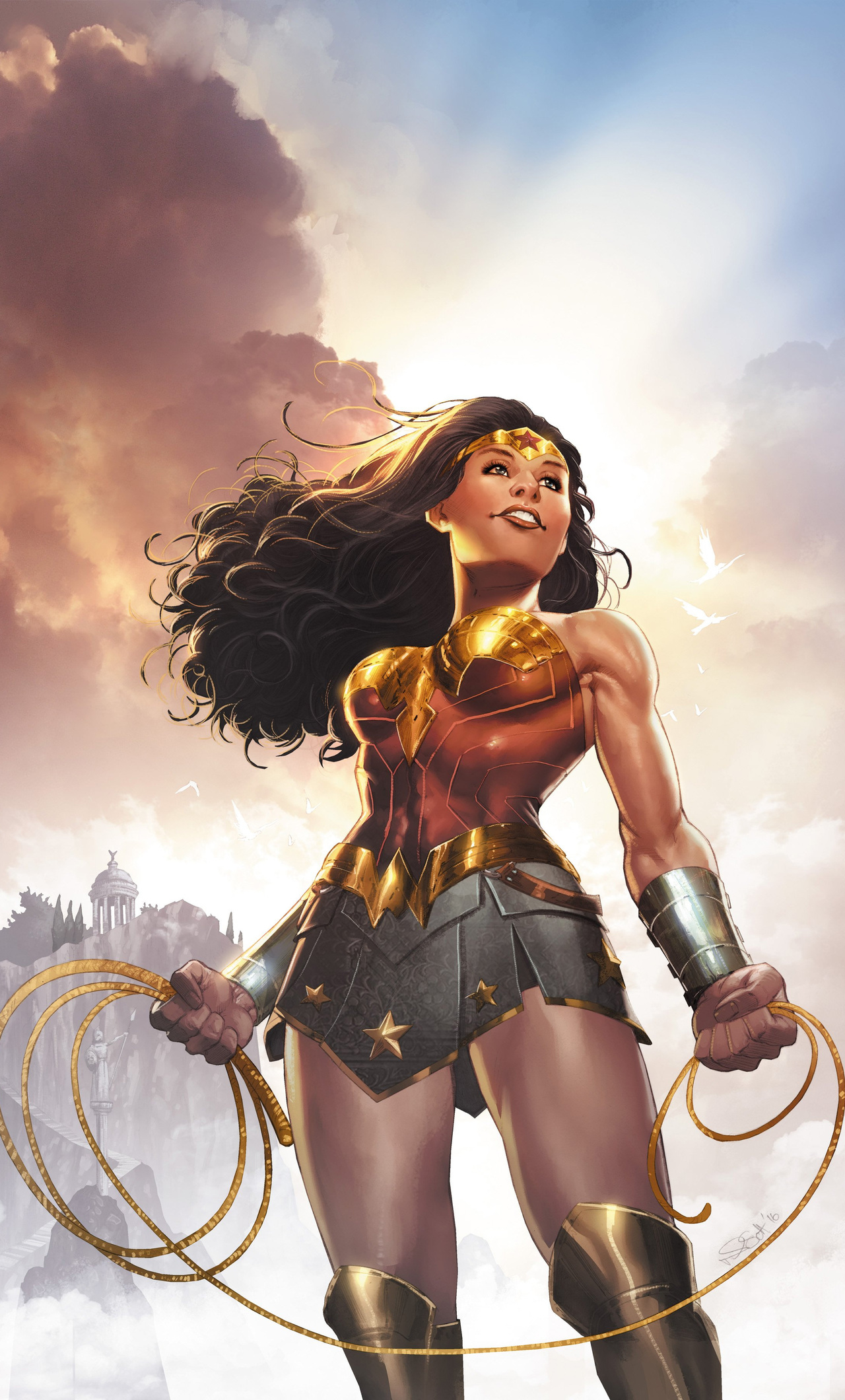 1280x2120 Wonder Woman Dc Rebirth Iphone 6 Hd 4k Wallpapers Images