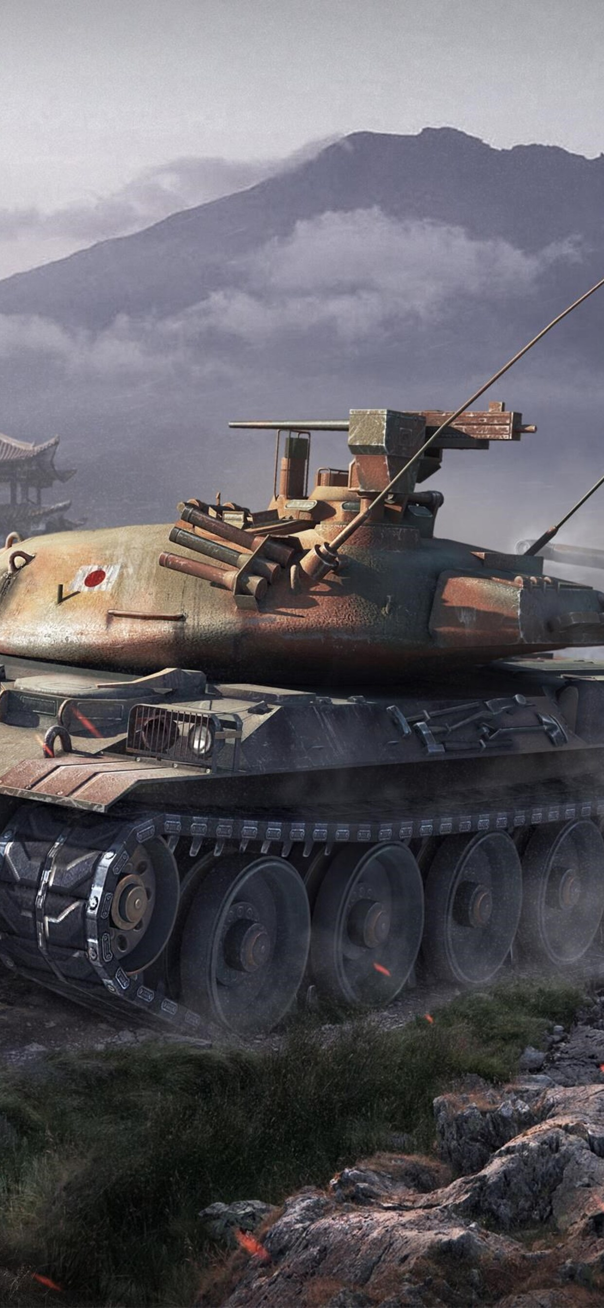 1242x2688 World Of Tanks Japanese Tanks Iphone Xs Max Hd 4k