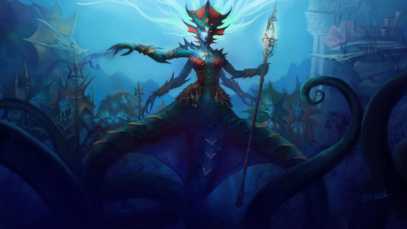 1366x768 World Of Warcraft Queen Azshara 8k 1366x768 Resolution Hd