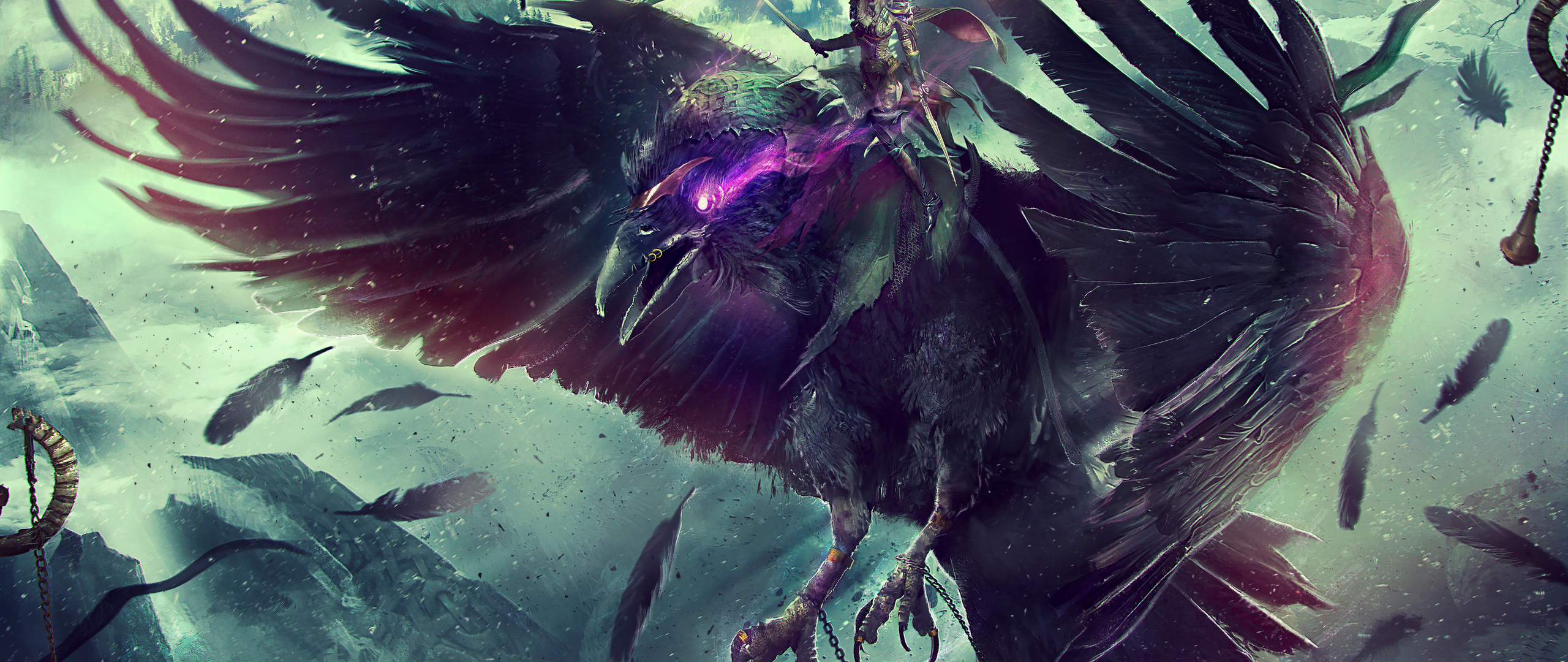 2560x1080 World Of Warcraft Raven Fantasy 4k 2560x1080 Resolution