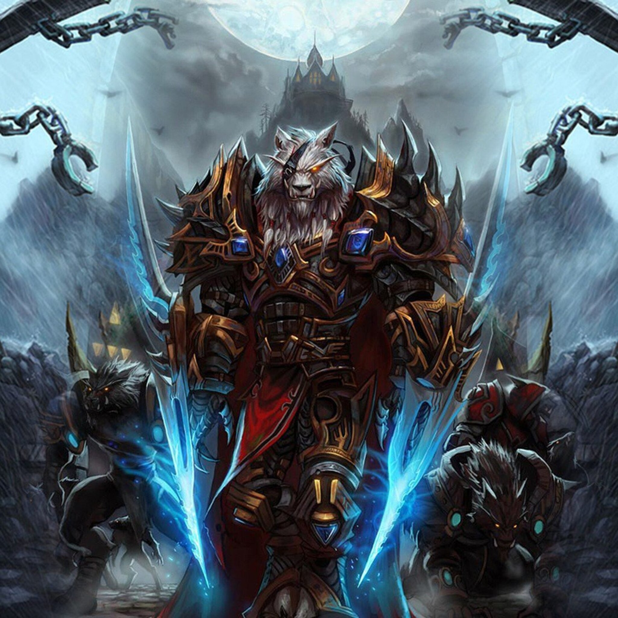 2048x2048 World Of Warcraft Worgen Character Ipad Air HD 4k Wallpapers, Images, Backgrounds ...