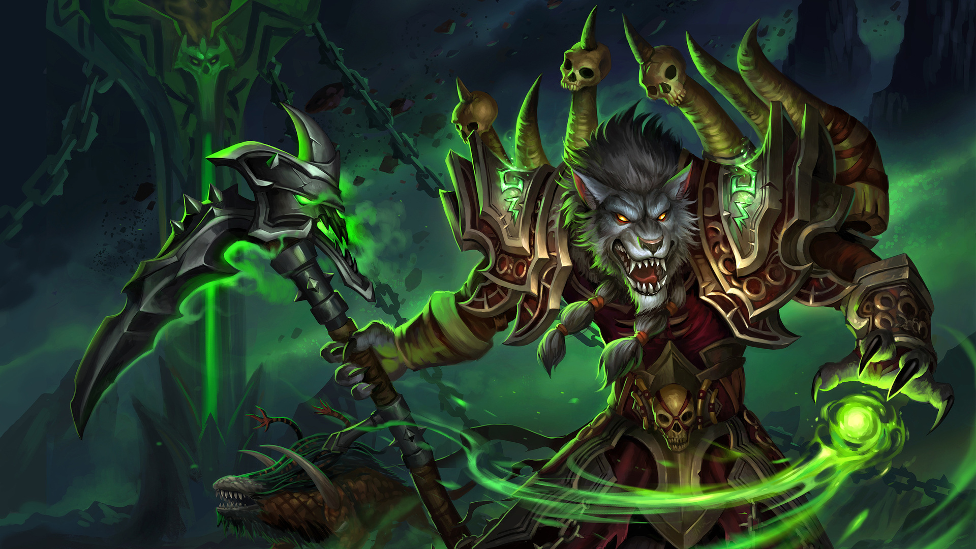1920x1080 World Of Warcraft Worgen Warlock Laptop Full Hd 1080p Hd 4k Wallpapers Images Backgrounds Photos And Pictures