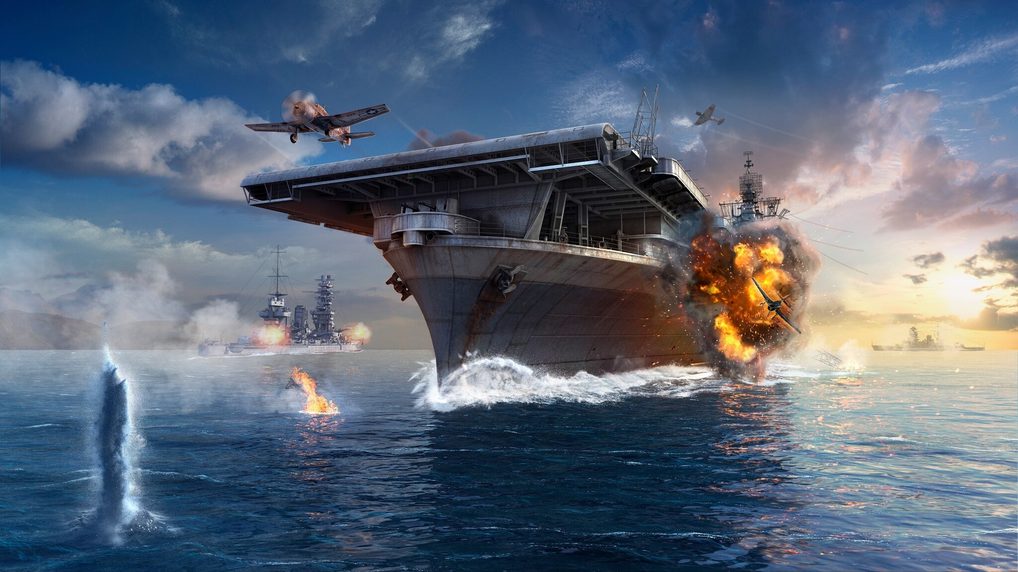 2048x1152 World Of Warships 2 2048x1152 Resolution HD 4k Wallpapers, Images, Backgrounds, Photos ...