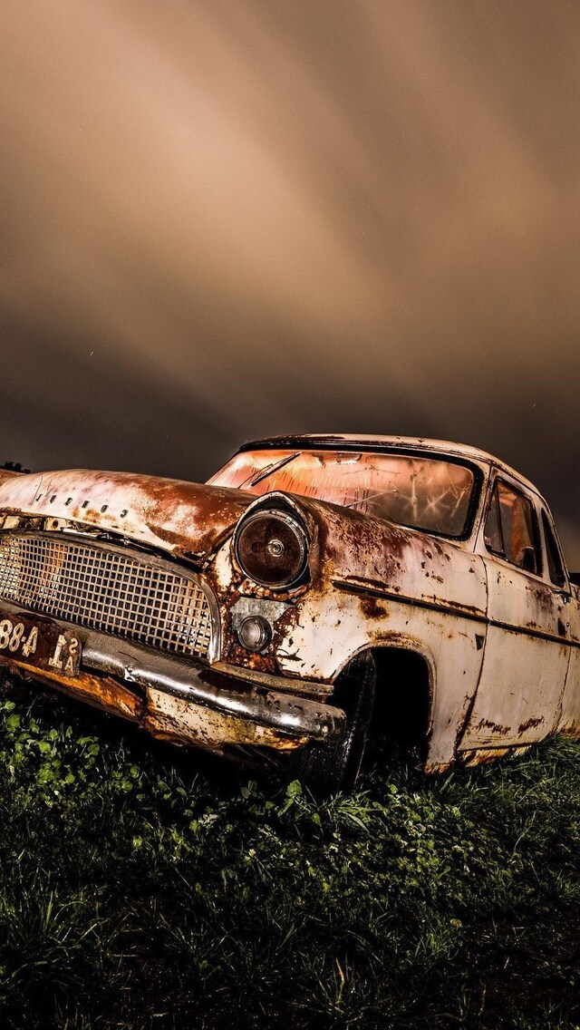 640x1136 Wrecked Vintage Car Iphone 5 5c 5s Se Ipod Touch Hd 4k Wallpapers Images Backgrounds Photos And Pictures