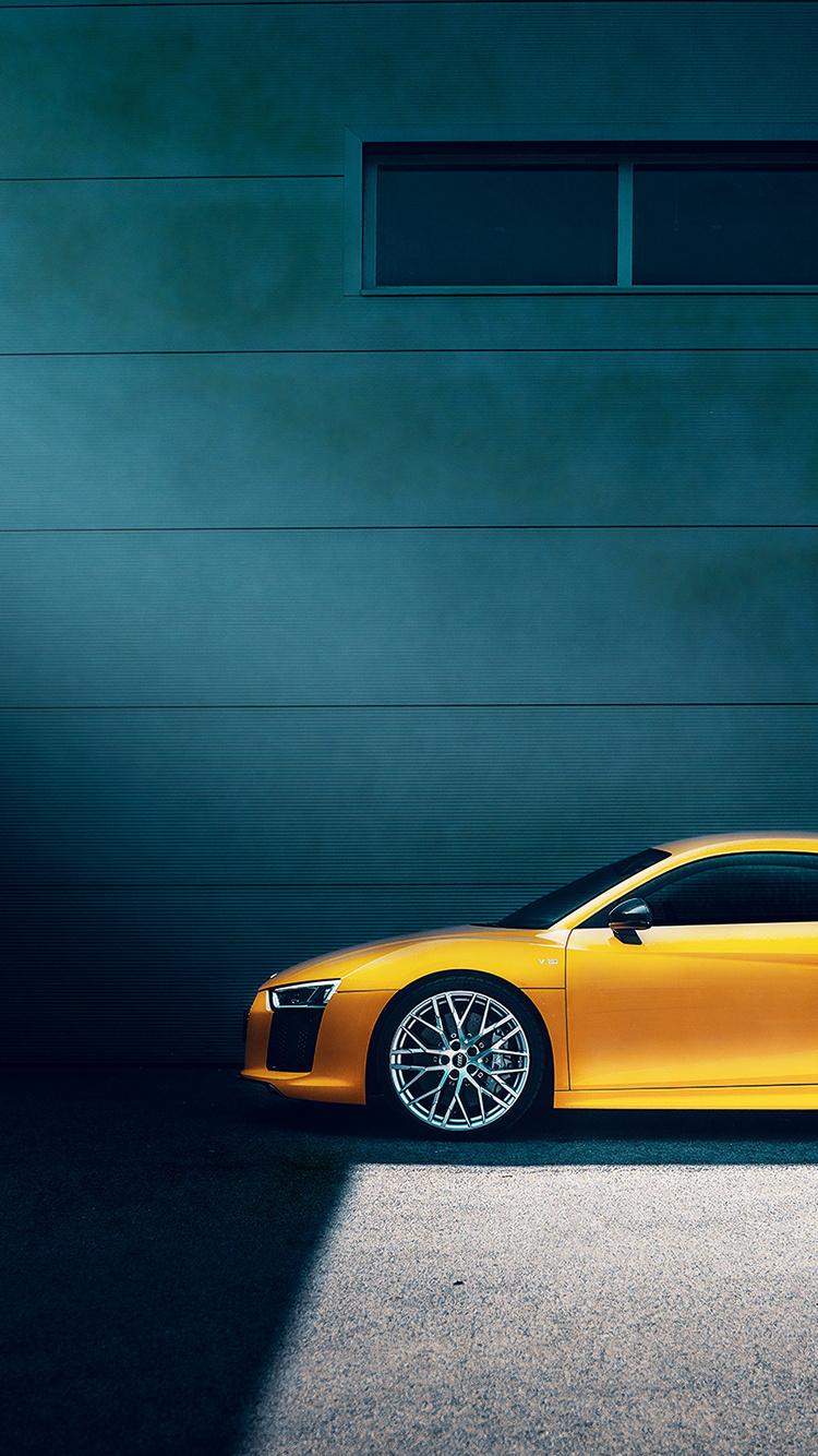 750x1334 Yellow Audi R8 Iphone 6 Iphone 6s Iphone 7 Hd 4k