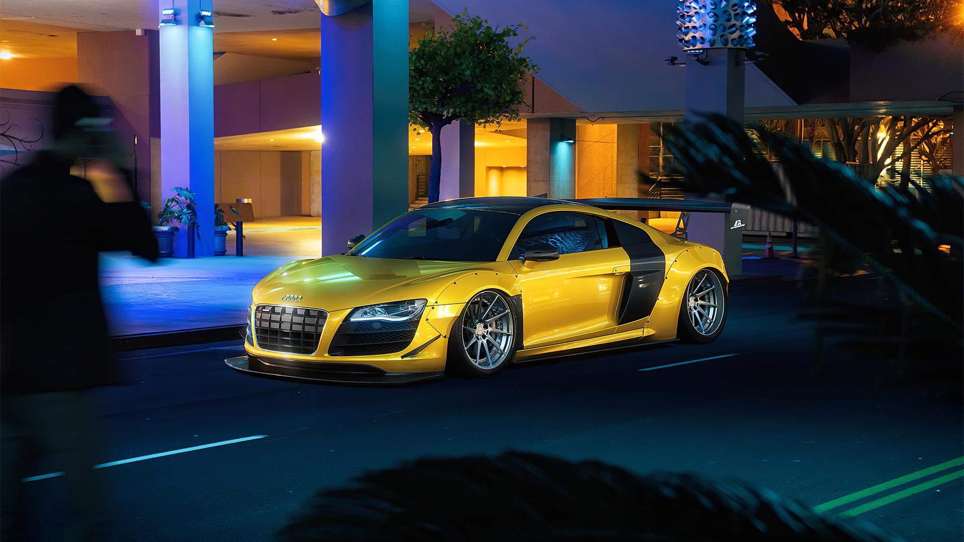1920x1080 Yellow Audi R8 Car Laptop Full HD 1080P HD 4k ...