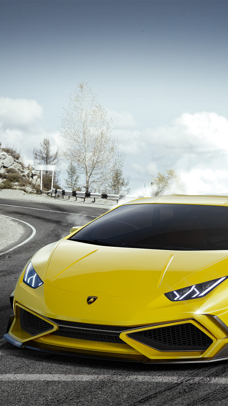 750x1334 Yellow Lamborghini Huracan 4k Iphone 6 Iphone 6s