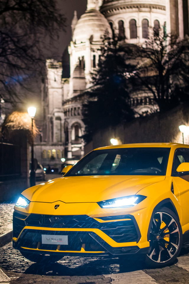 640x960 Yellow Lamborghini Urus 2018 iPhone 4, iPhone 4S ...