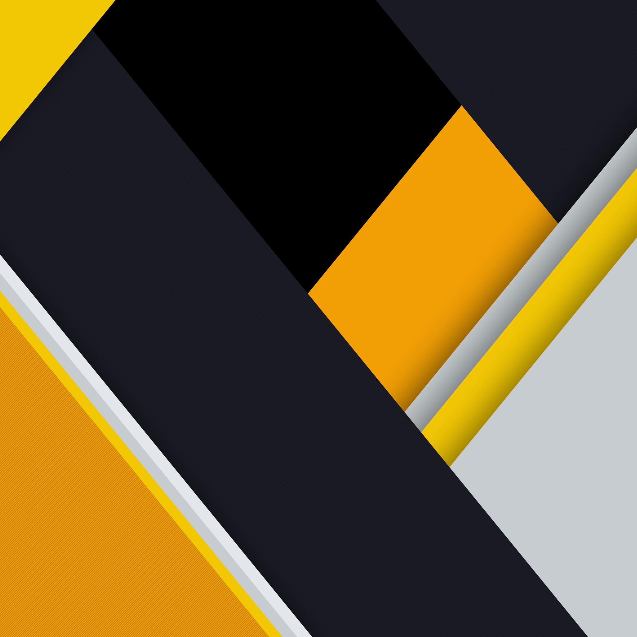 2048x2048 Yellow Material Design Abstract 8k Ipad Air HD
