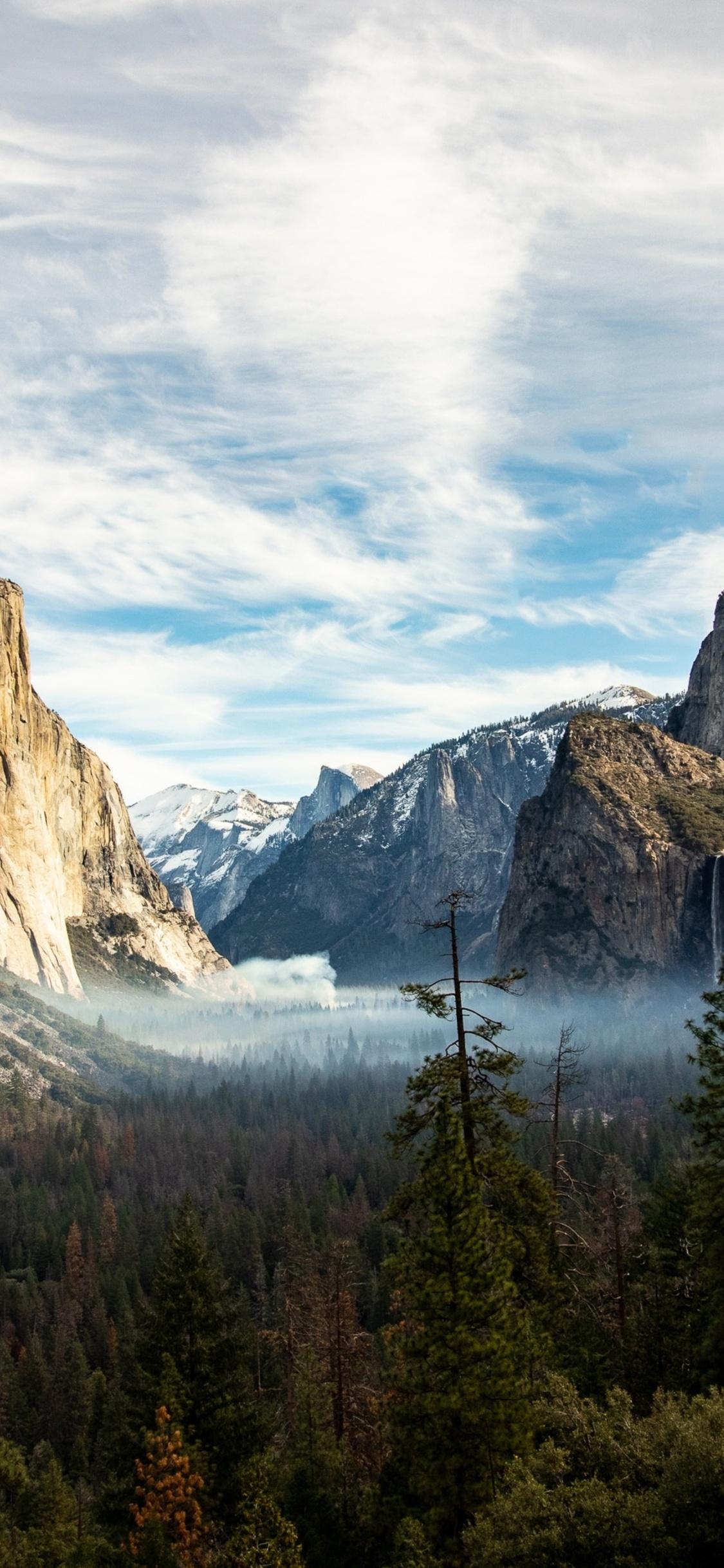 1125x2436 Yosemite Valley Beautiful View Iphone Xs Iphone 10
