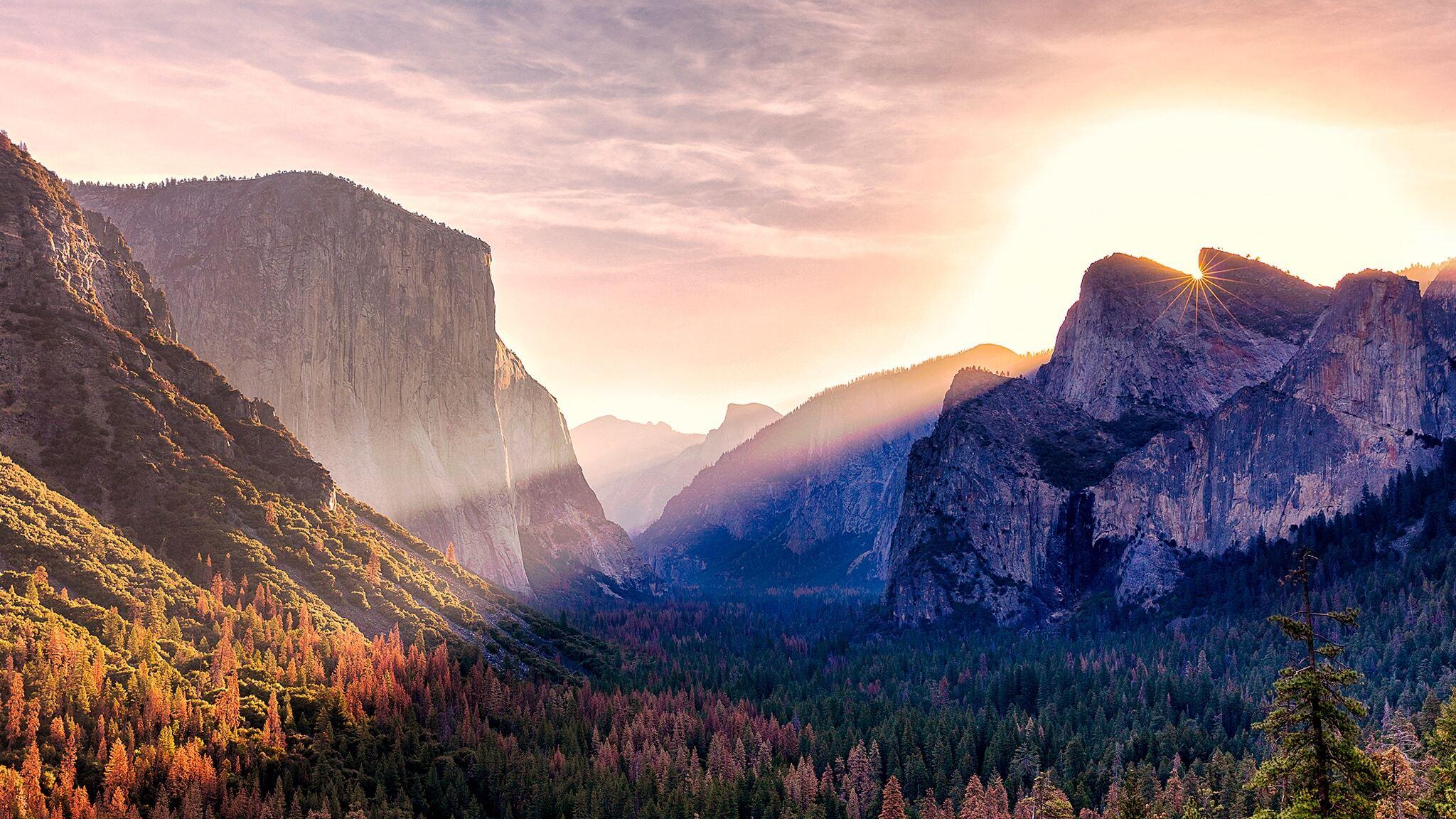 2048x1152 Yosemite Valley Morning