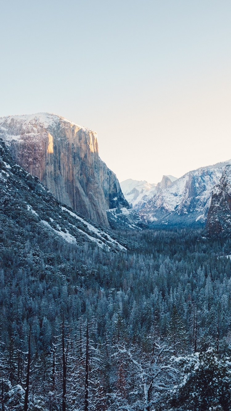 750x1334 Yosemite Winter 4k Iphone 6 Iphone 6s Iphone 7 Hd 4k Wallpapers Images Backgrounds Photos And Pictures