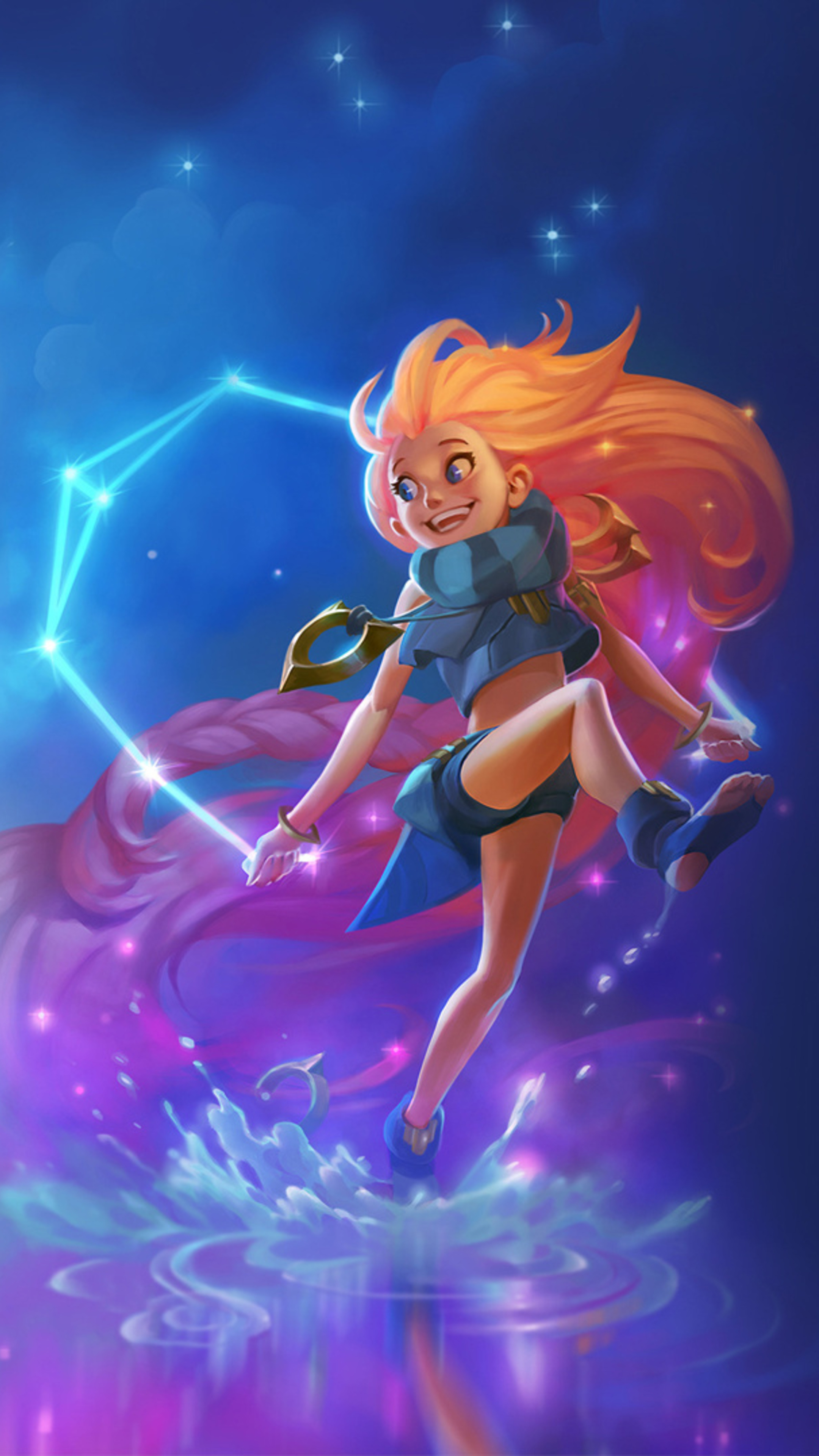 2160x3840 zoe league of legends sony xperia x xz z5 - Zoe wallpaper ...