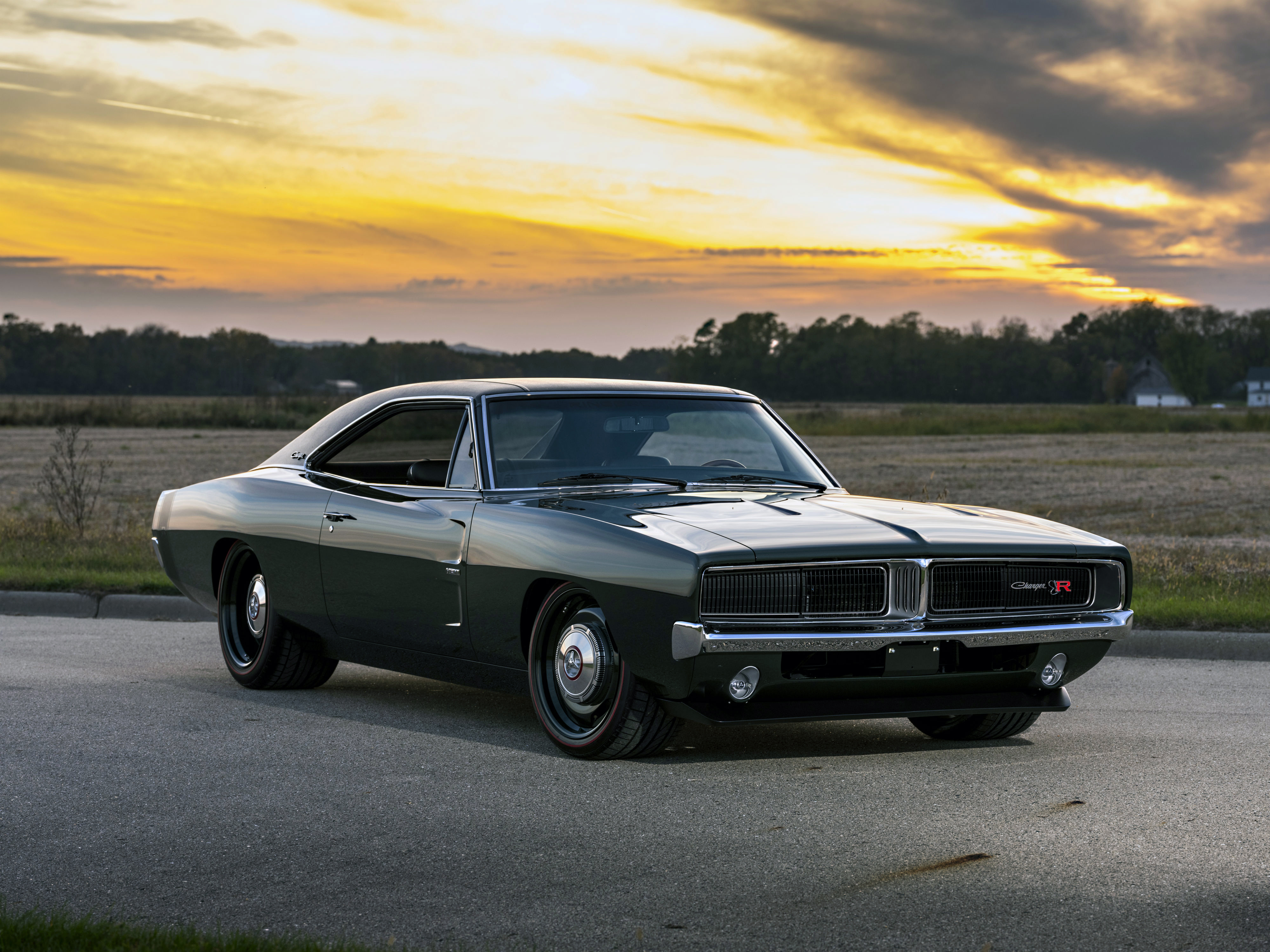 1969 Ringbrothers Dodge Charger Defector Front View Hd Cars 4k