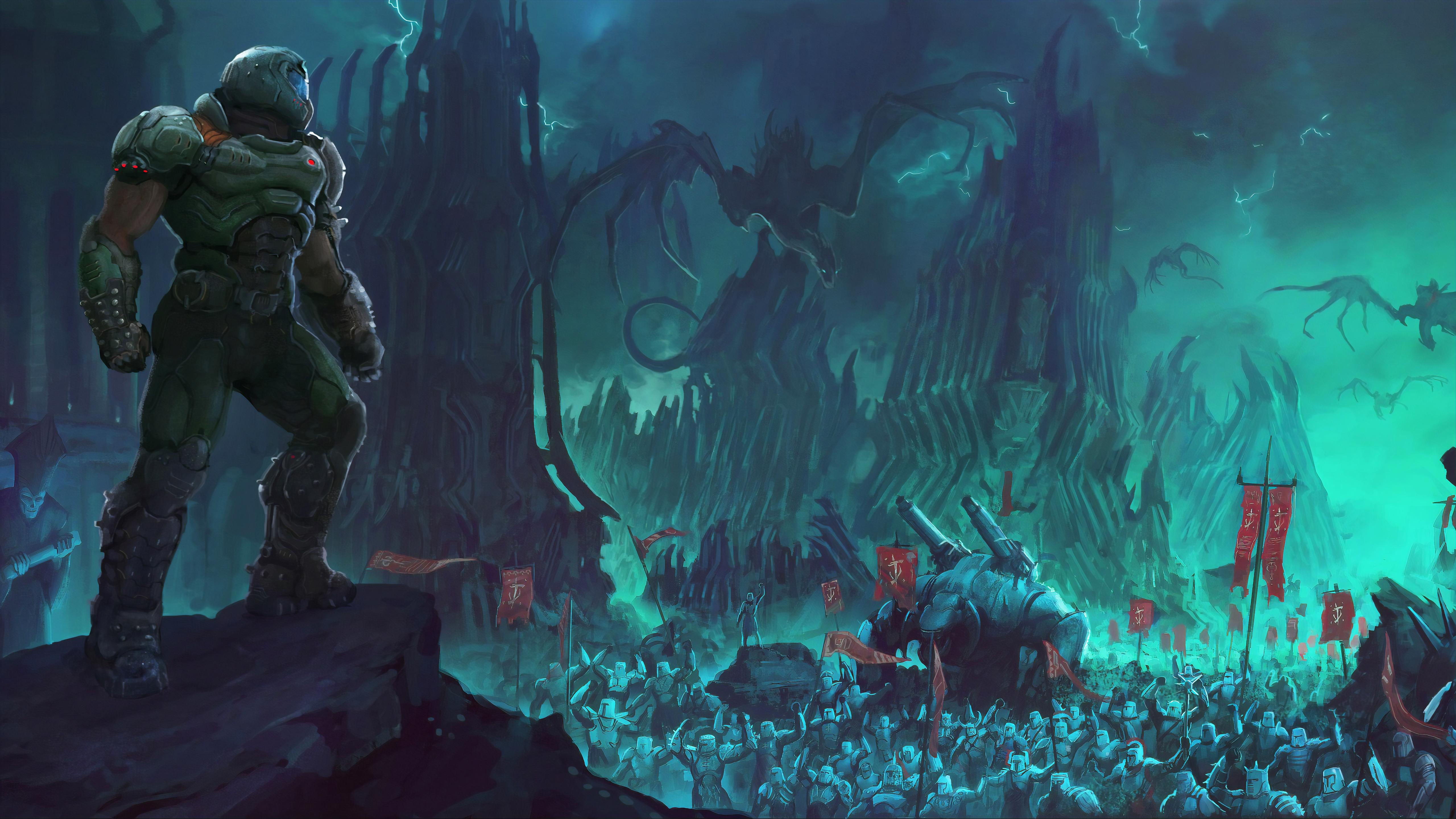 2019 Doom Eternal 4k Hd Games 4k Wallpapers Images Backgrounds