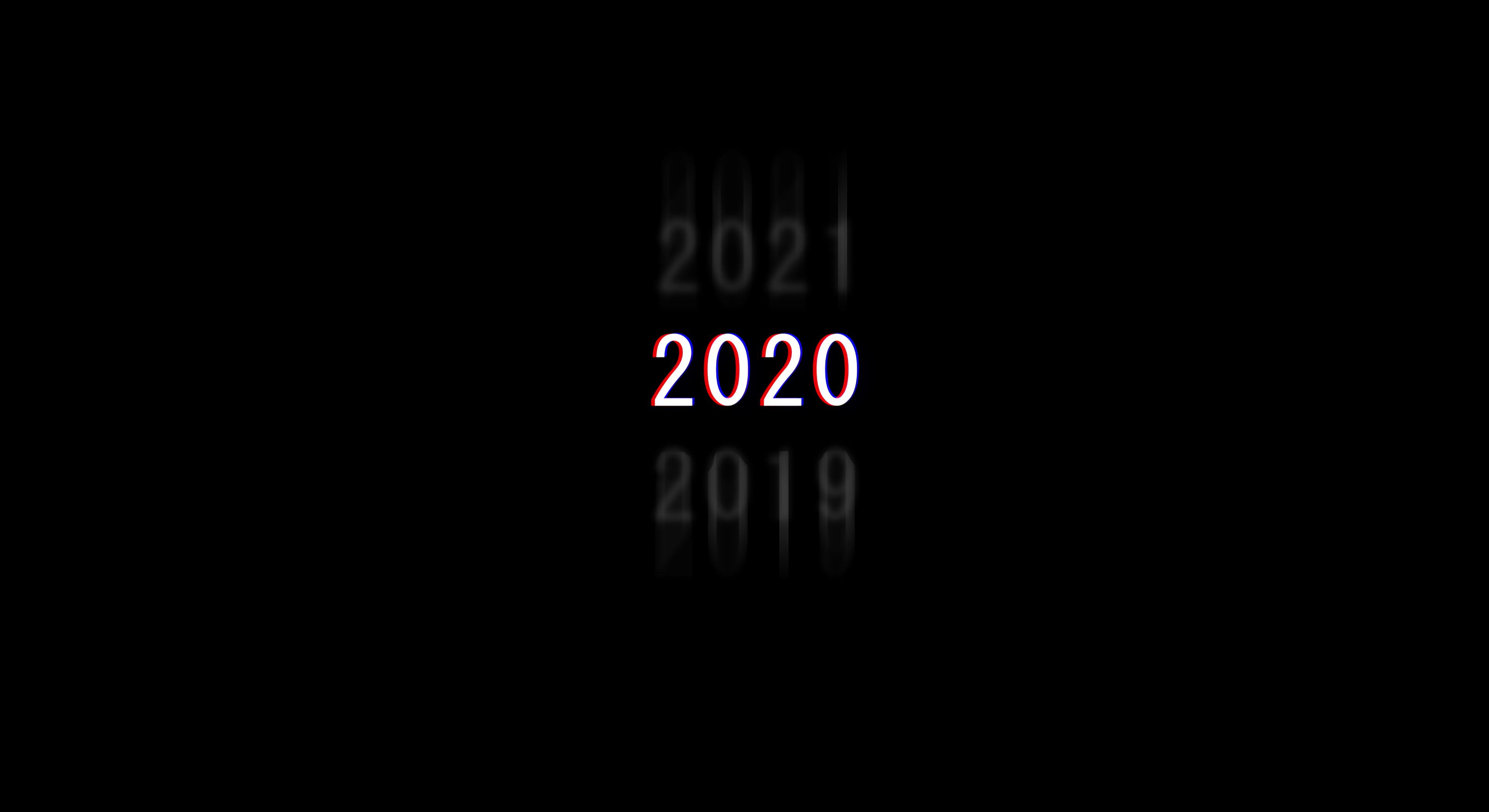 1600x900 2020 Dark Minimal New Year 4k 1600x900 Resolution Hd 4k