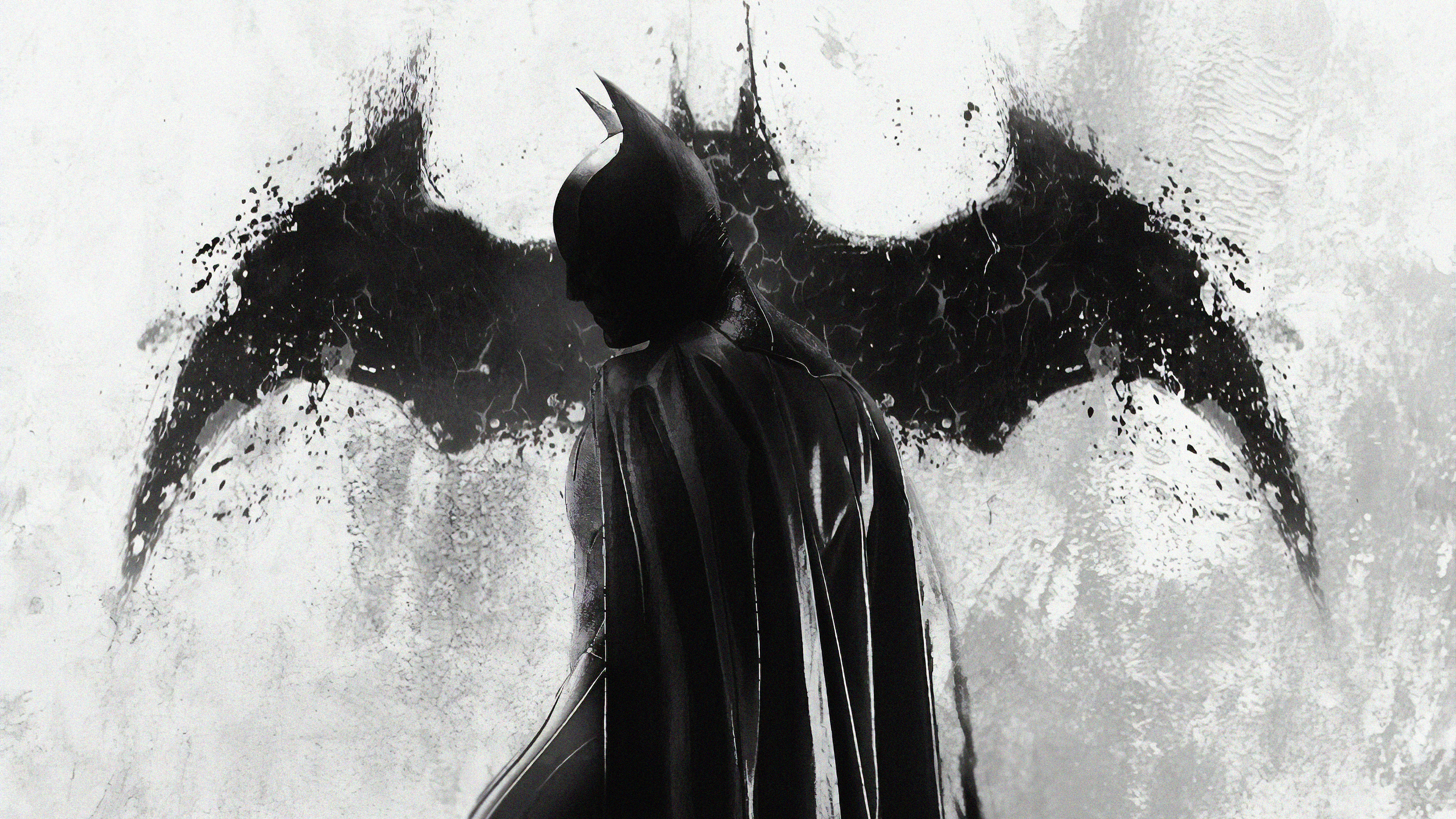 4k Batman Monochrome Hd Superheroes 4k Wallpapers Images Backgrounds Photos And Pictures