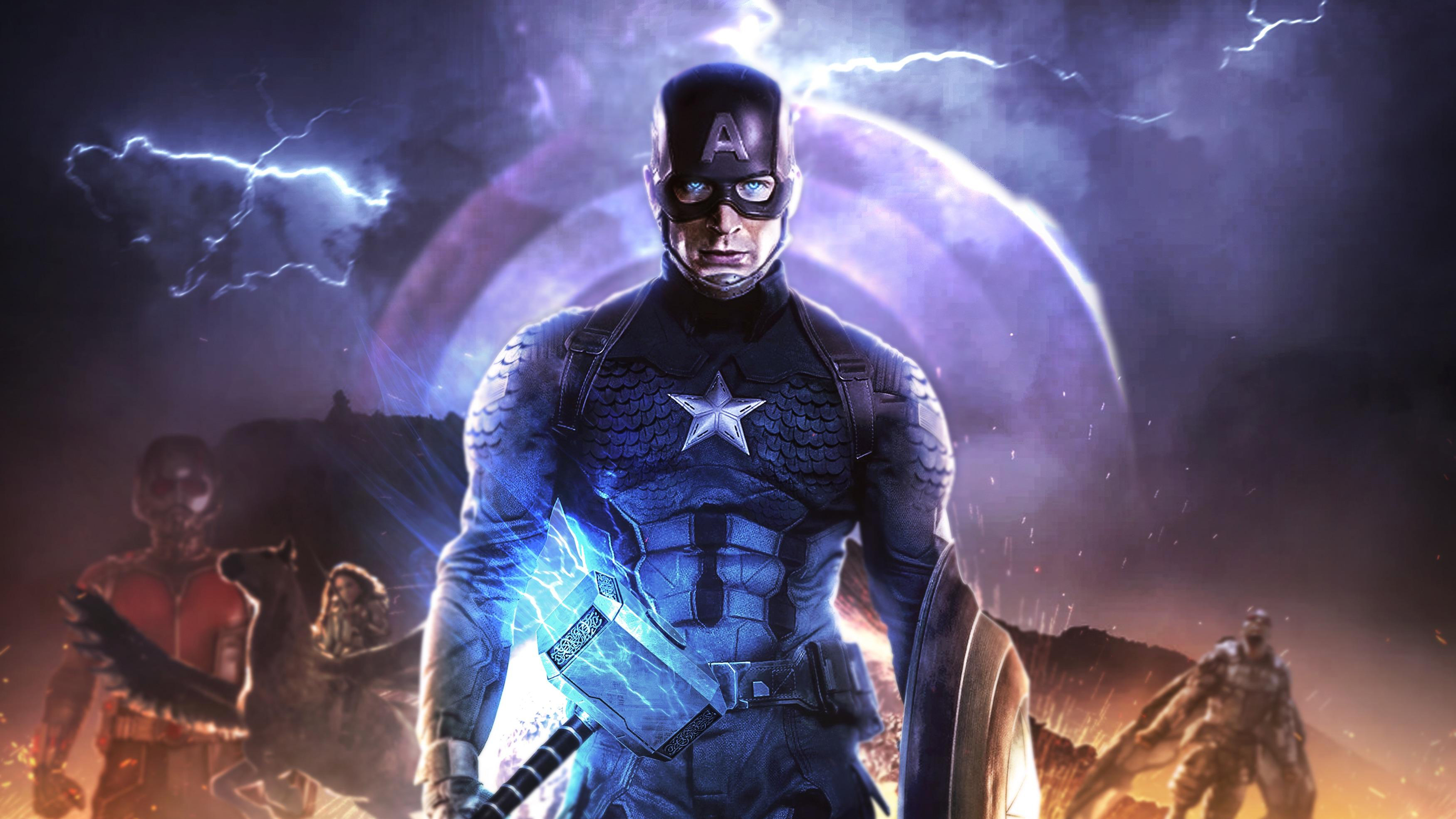 4k Captain America In Avengers Endgame Hd Superheroes 4k