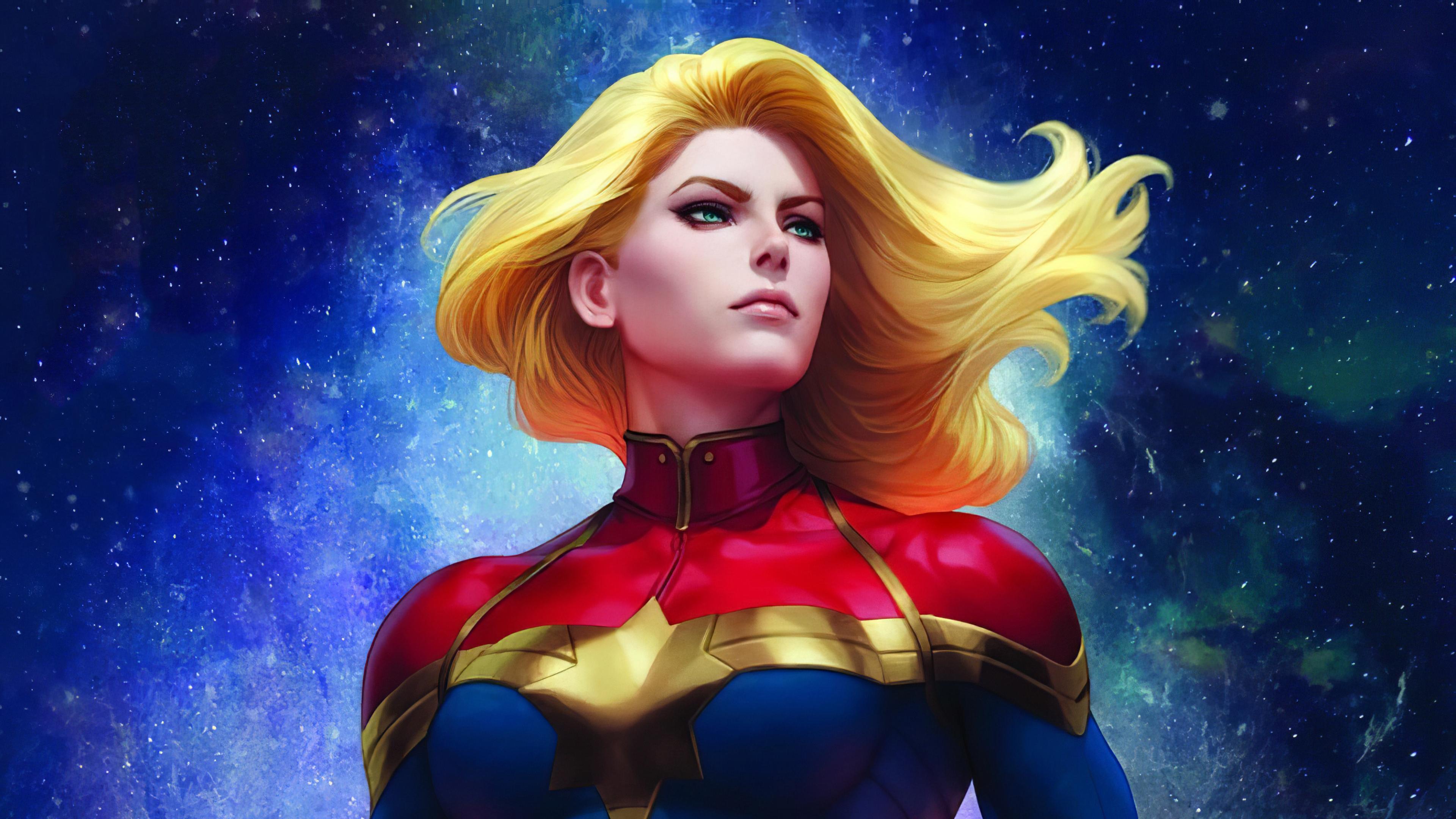 4k Captain Marvel Art 2020, HD Superheroes, 4k Wallpapers ...